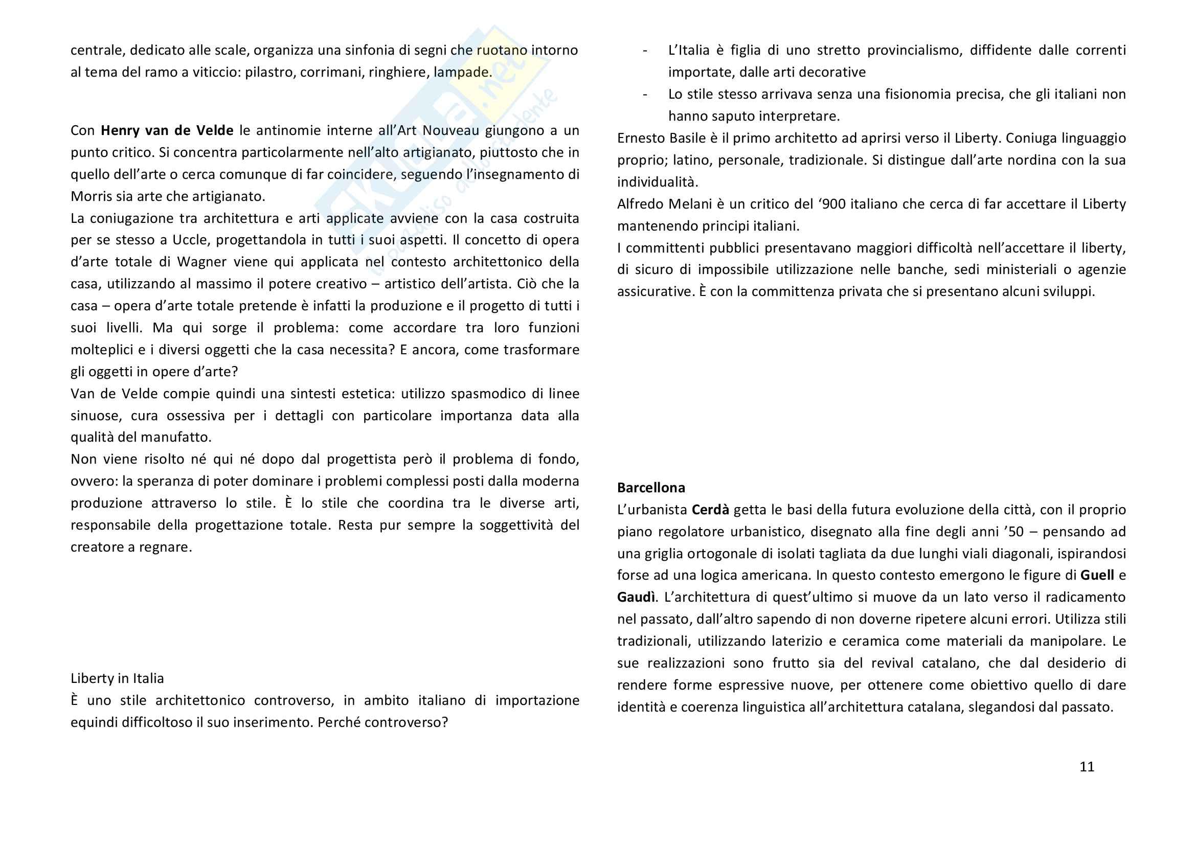 Riassunto Storia dell'architettura contemporanea 1750 - 1945 Pag. 11