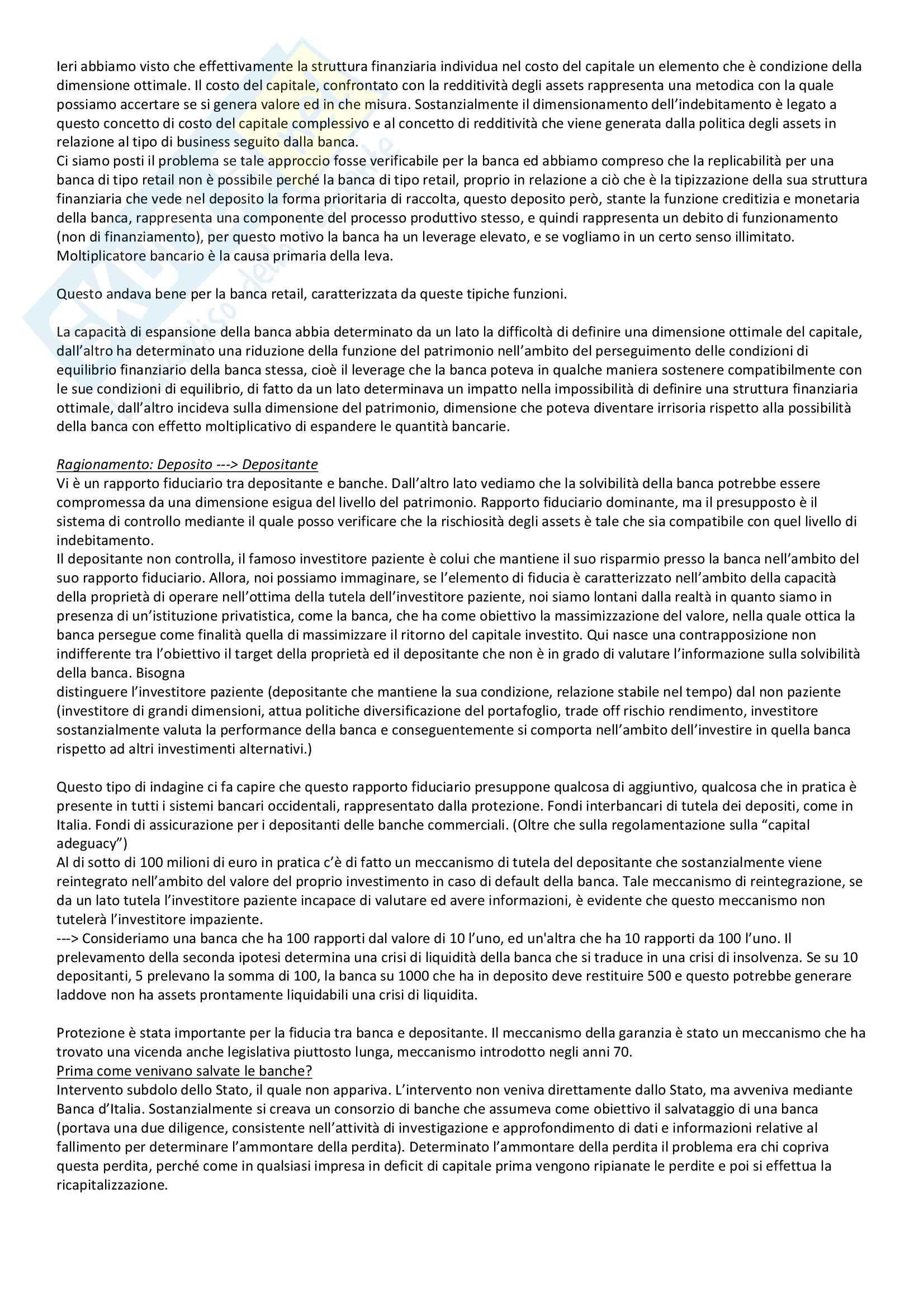 Riassunto Esame - Analisi e gestione dei rischi degli intermediari - Prof. Paola Leone Pag. 6