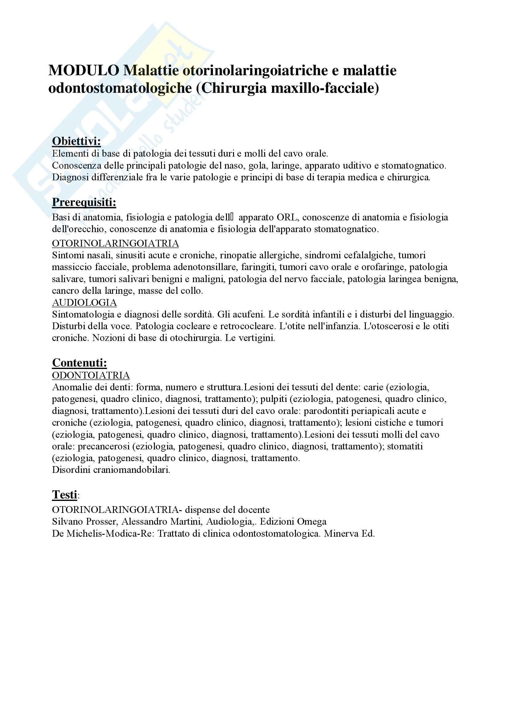 Odontolaringoiatria e CMF