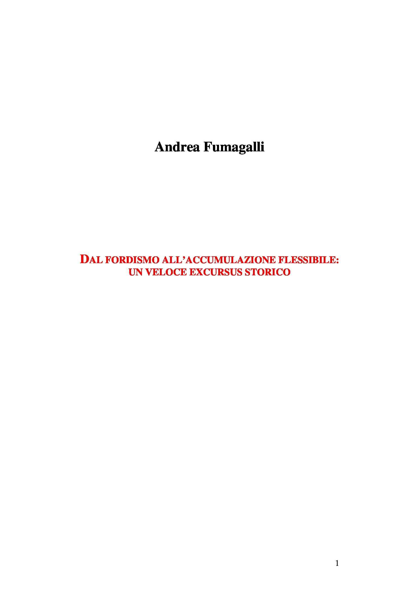 Fordismo e accumulazione flessibile