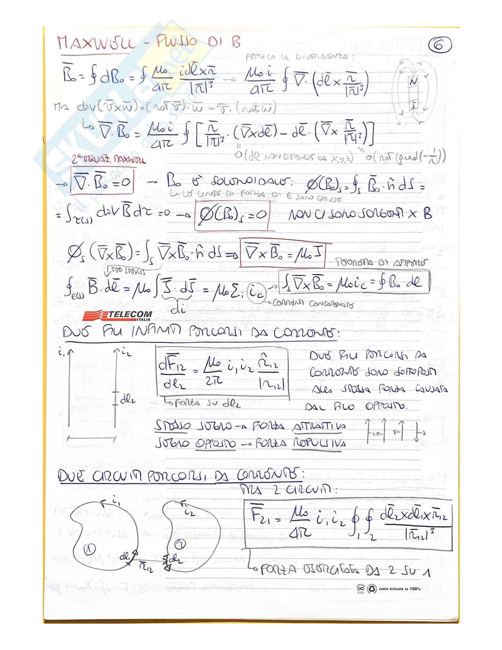 Fisica II (schemi riassuntivi) Pag. 11