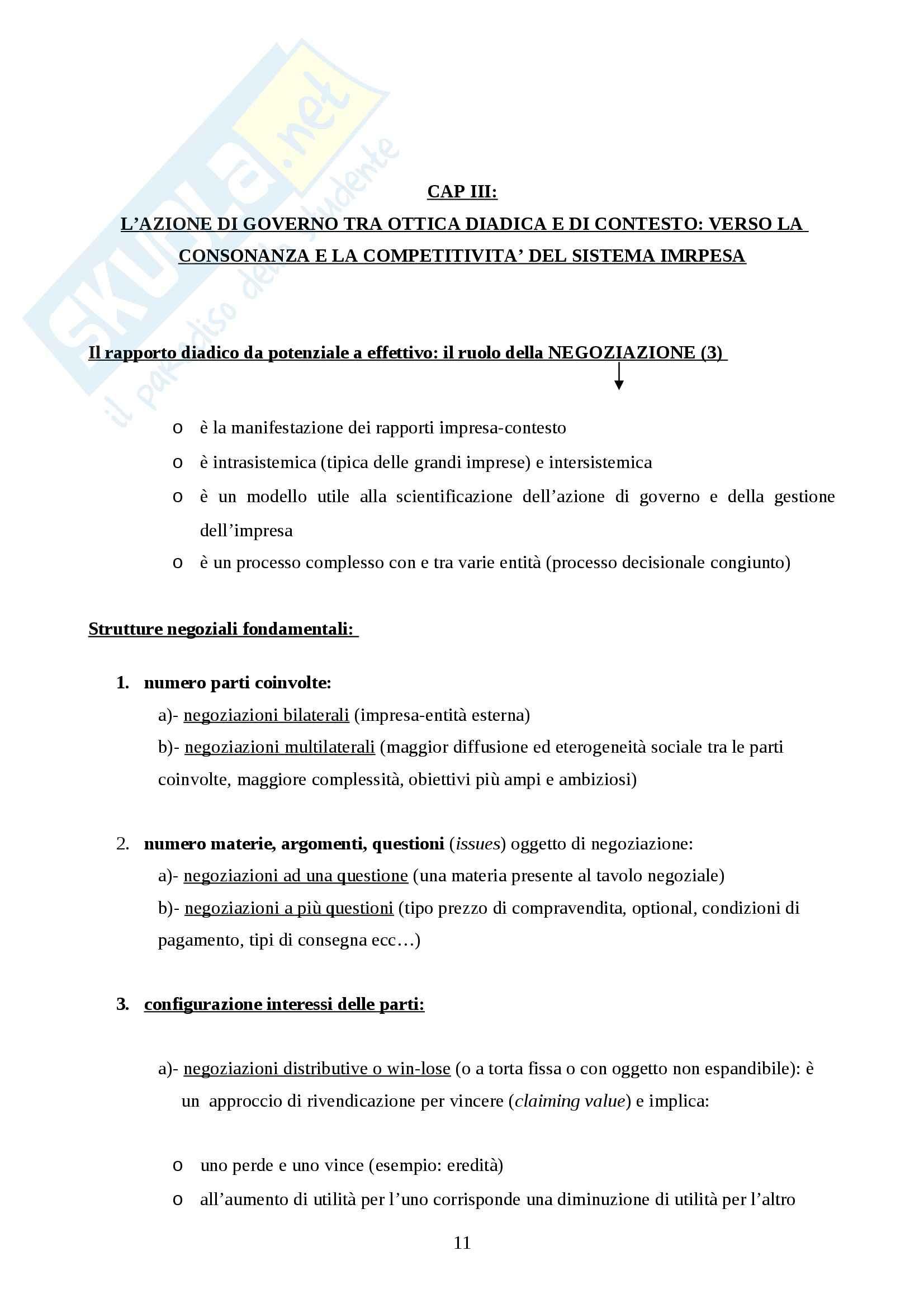 Riassunto esame Gestione delle Imprese, prof. Aquilani, libro consigliato L'Approccio Sistemico Vitale (ASV) al Governo dell'Impresa, Golinelli Pag. 11