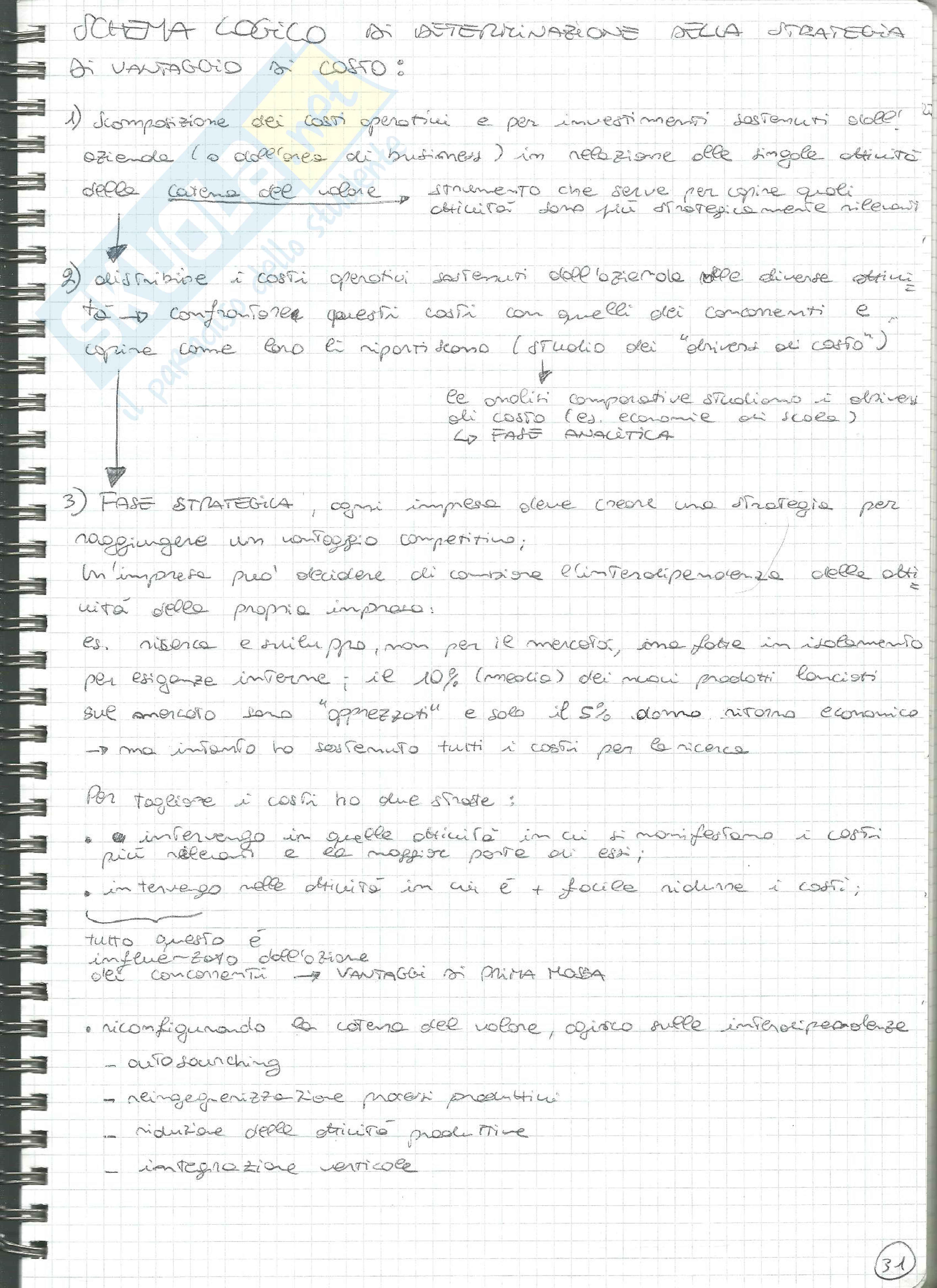 Riassunto esame Economia e Gestione delle Imprese, prof. Gianluca Marchi Pag. 31