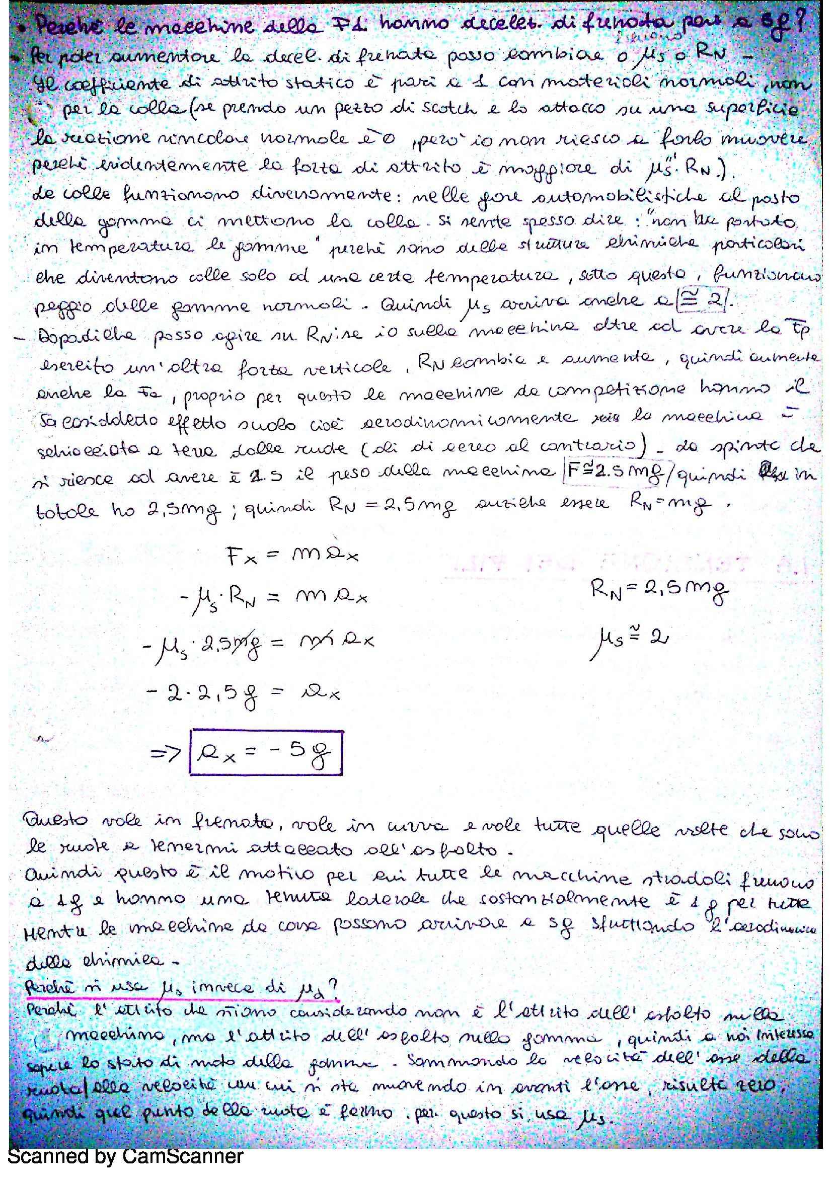 Fisica I - dinamica del punto: leggi di Newton Pag. 6