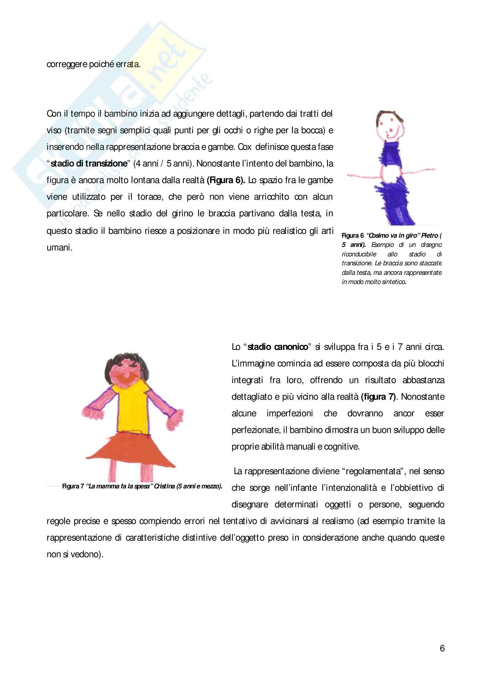 Psicologia dello sviluppo - rappresentazione simbolica:il disegno e le tappe evolutive Pag. 6