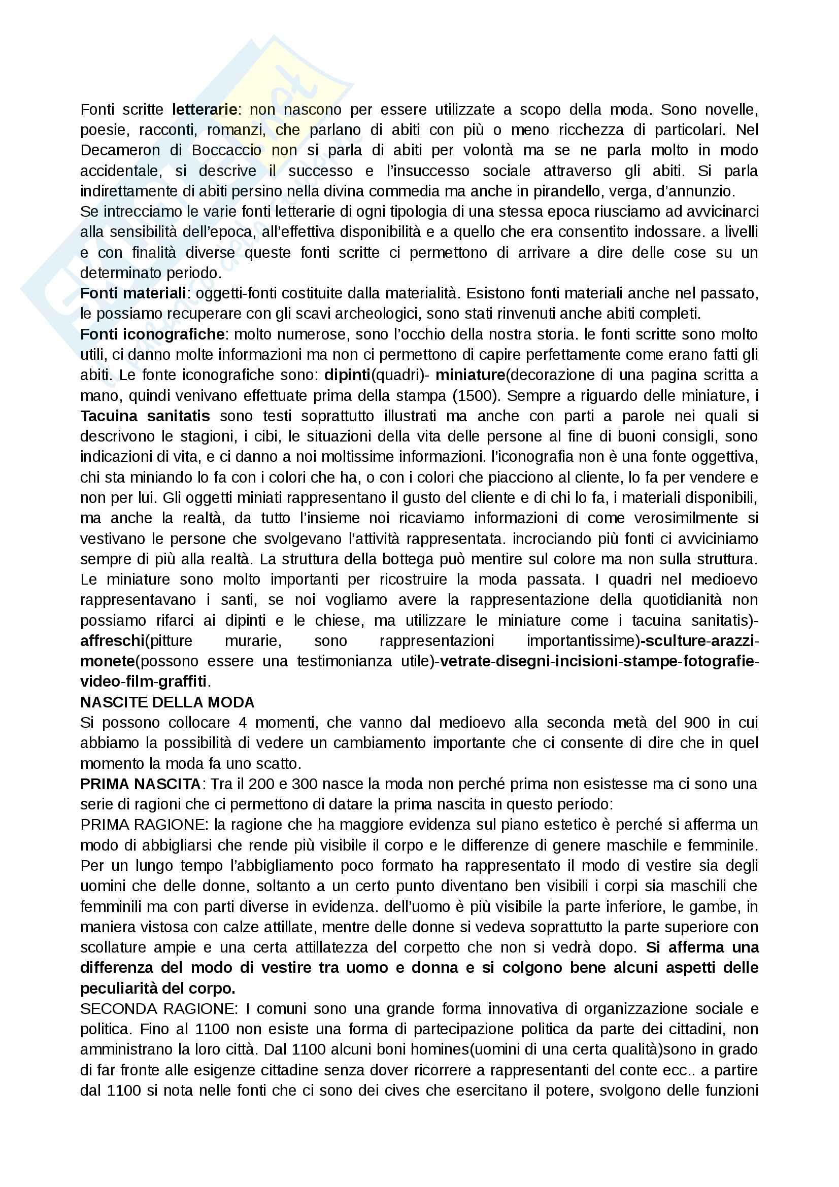 Storia del costume e della moda, prof.ssa Muzzarelli, appunti e descrizioni immagini Pag. 2