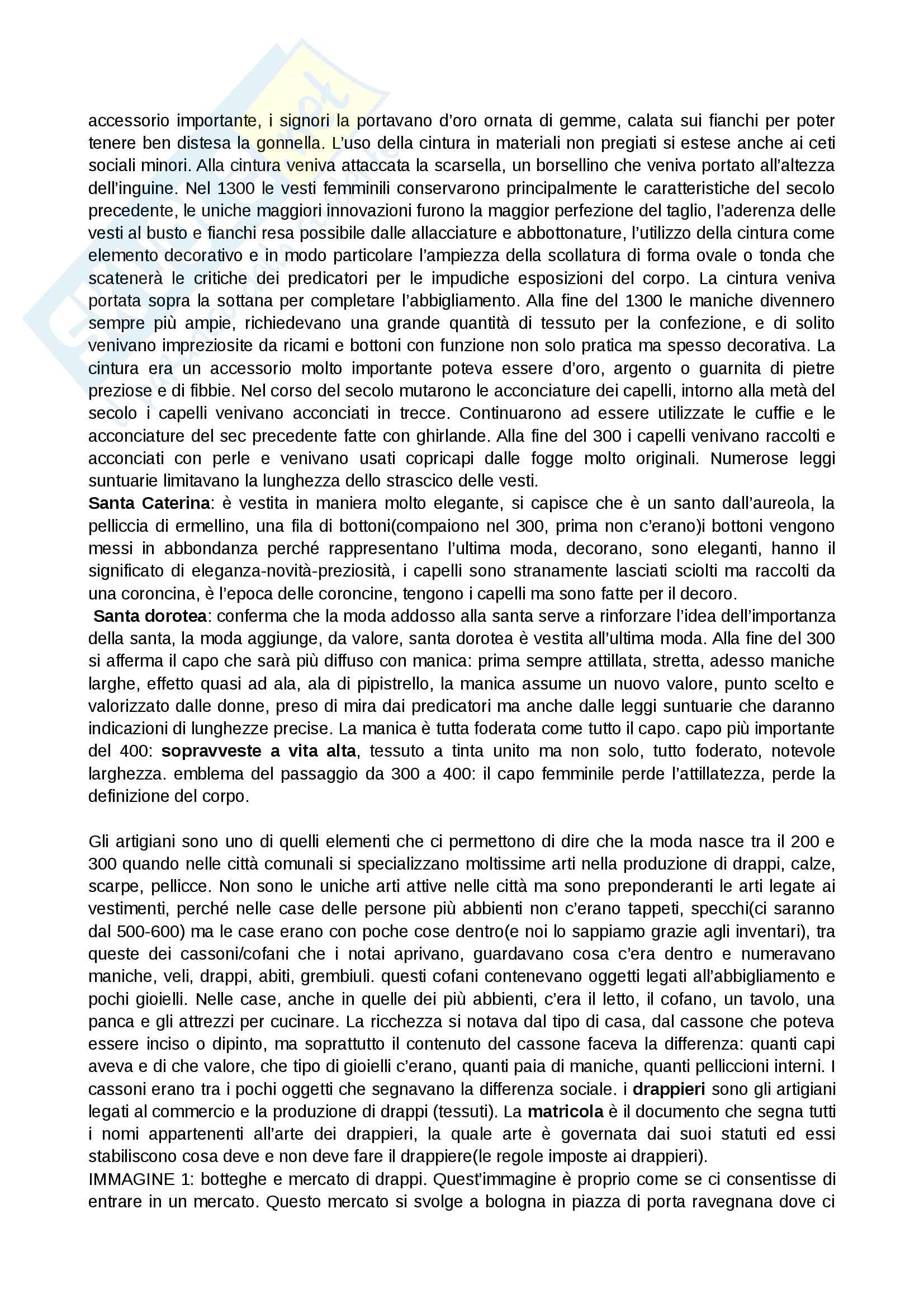 Storia del costume e della moda, prof.ssa Muzzarelli, appunti e descrizioni immagini Pag. 6
