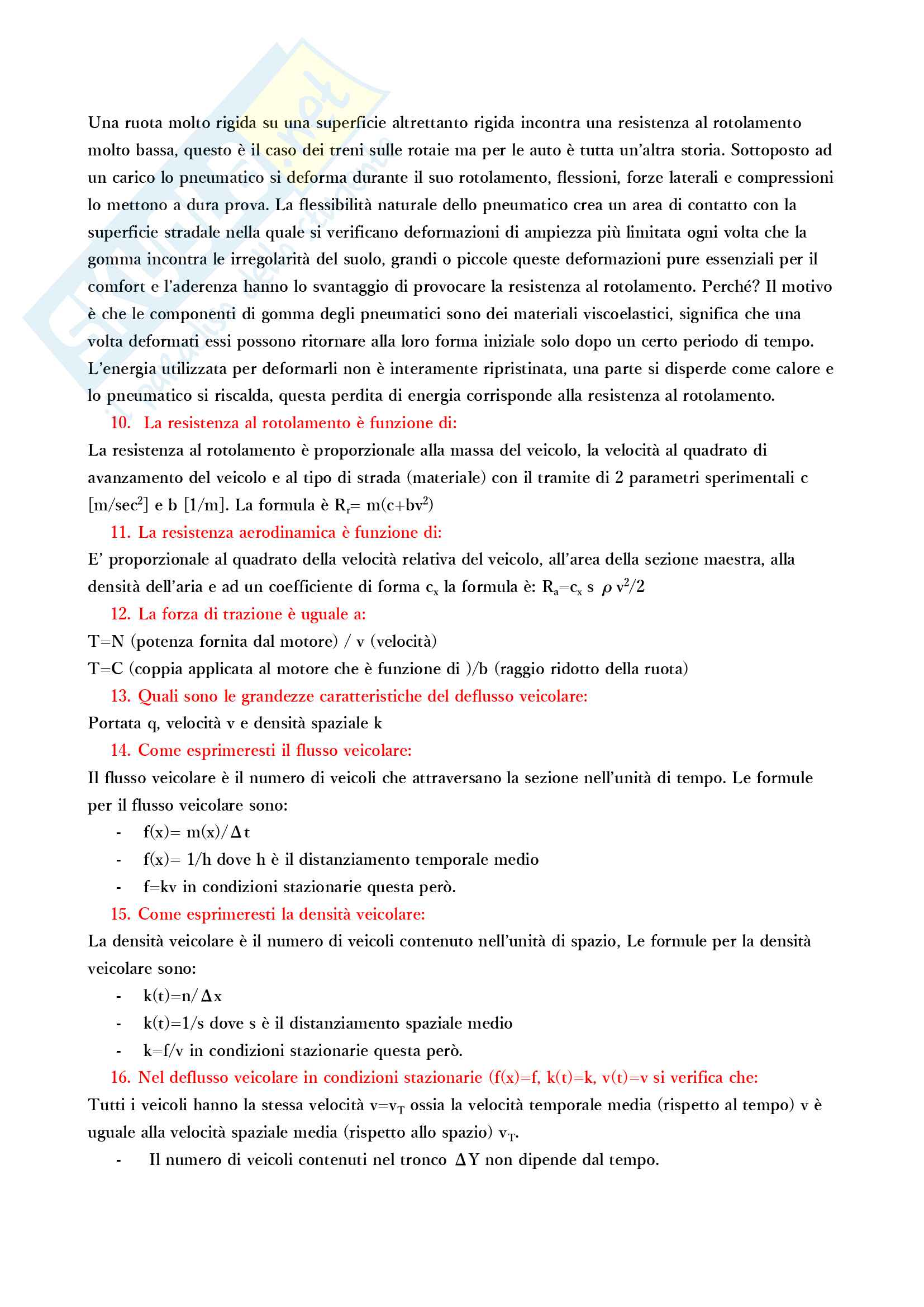 Tecnica ed economia dei trasporti Pag. 2