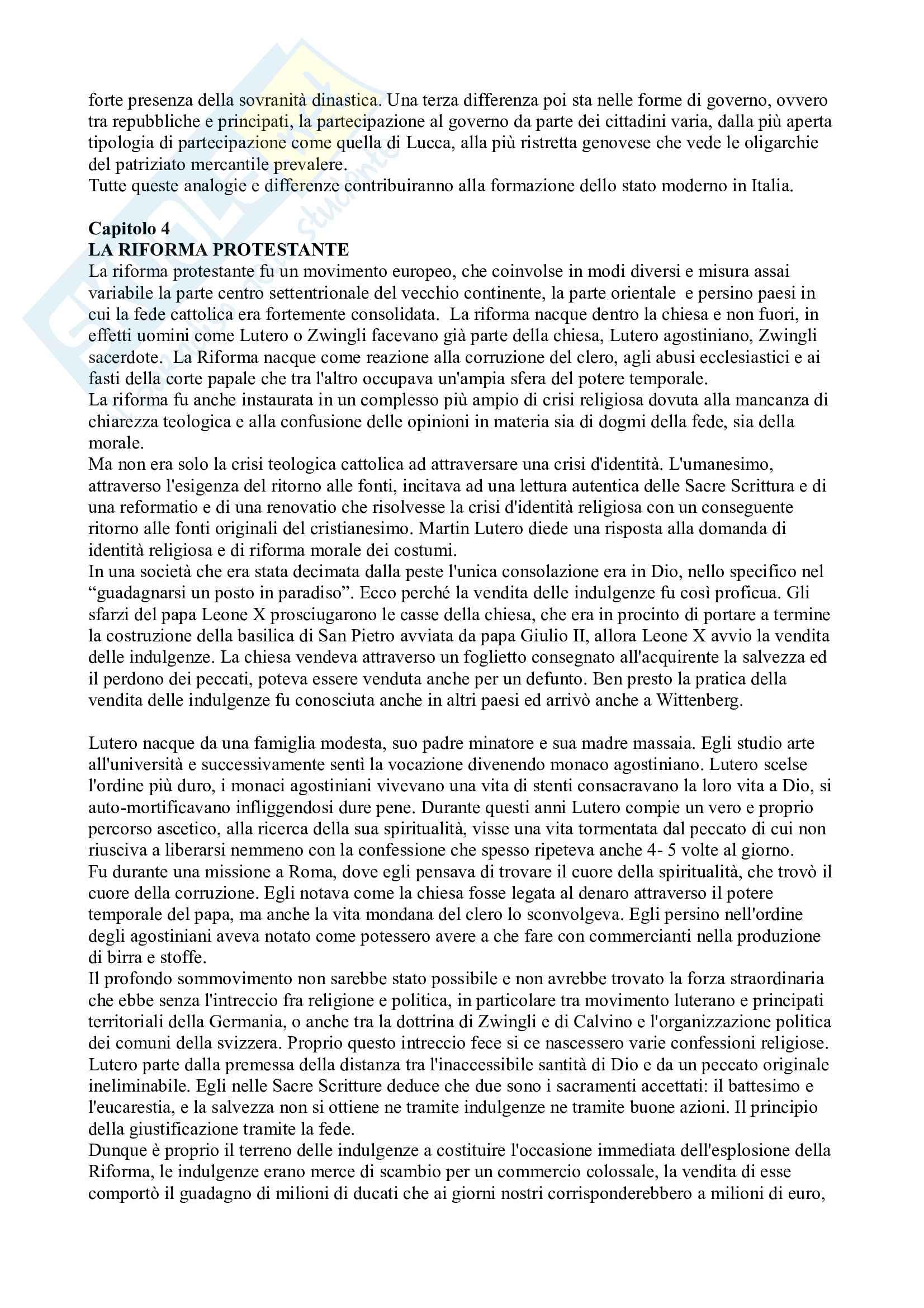 Riassunto esame Storia Moderna, prof. Campanelli, libro consigliato Le Vie della Modernità, Musi Pag. 11