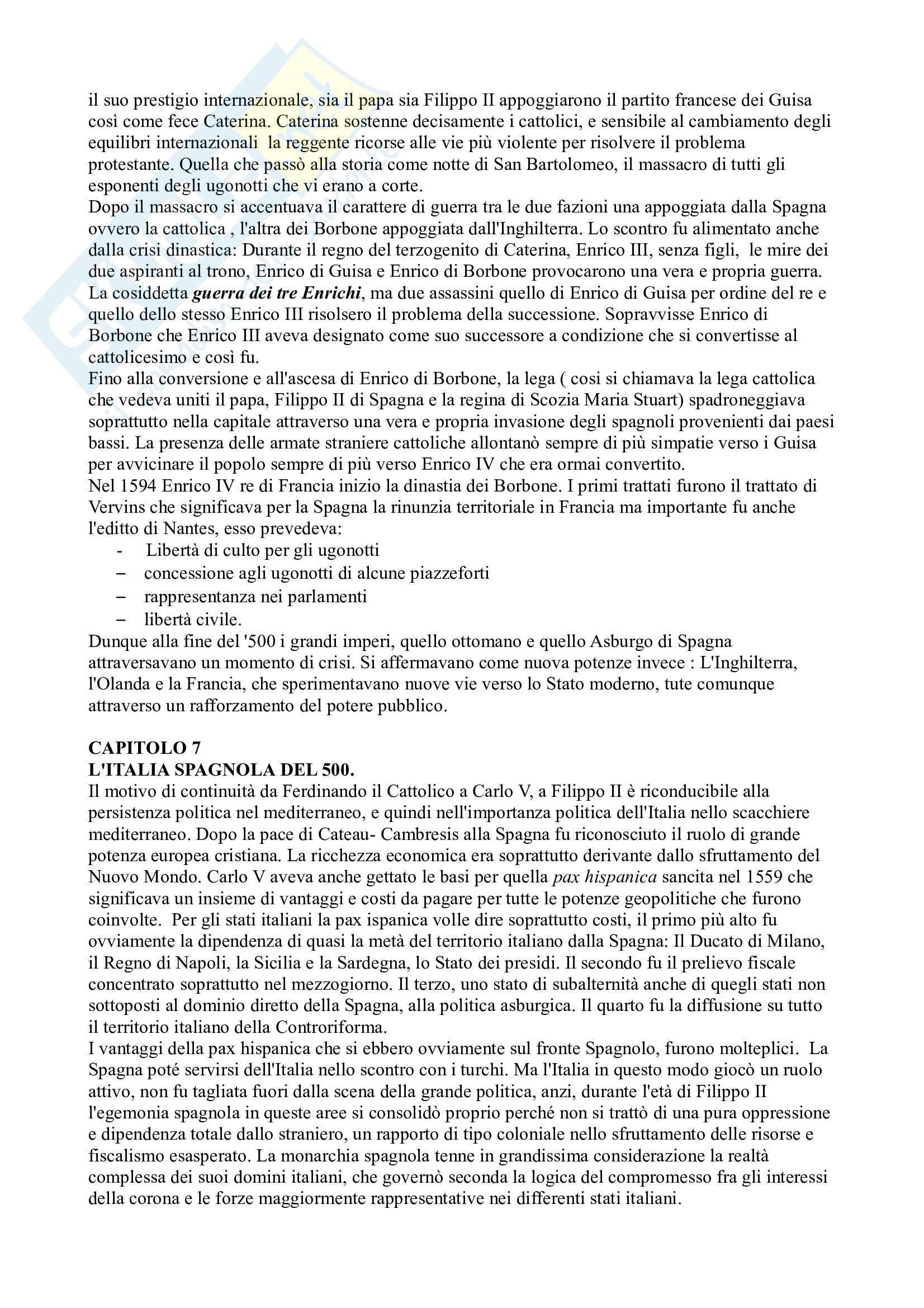 Riassunto esame Storia Moderna, prof. Campanelli, libro consigliato Le Vie della Modernità, Musi Pag. 21