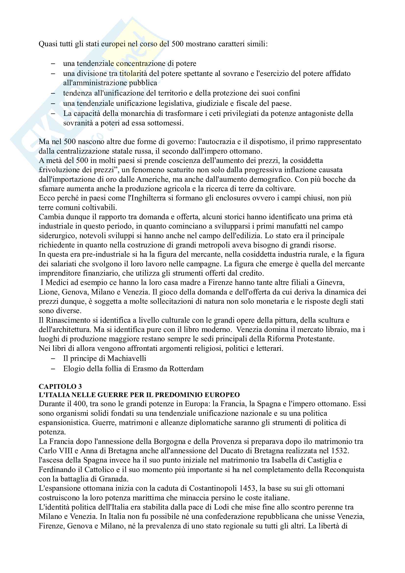 Riassunto esame Storia Moderna, prof. Campanelli, libro consigliato Le Vie della Modernità, Musi Pag. 6