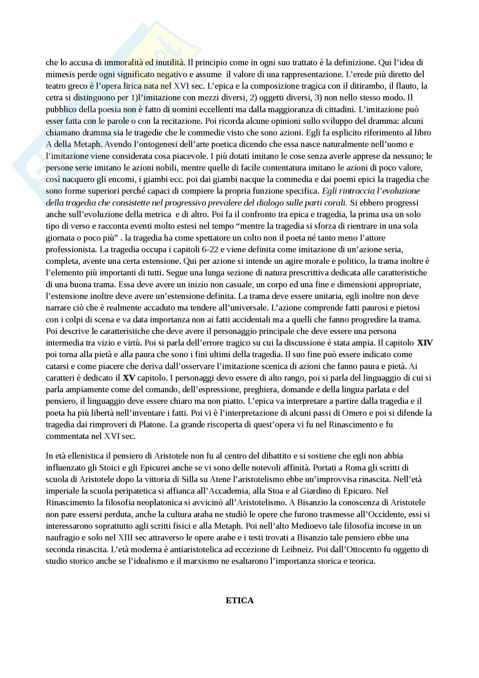 Riassunto esame storia della filosofia antica, con prof. Emidio Spinelli, libro consigliato Aristotele di Carlo Natali Pag. 16