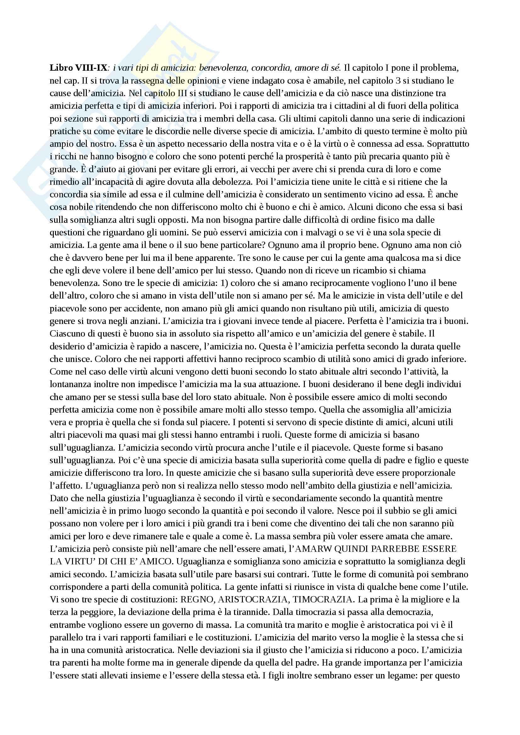 Riassunto esame storia della filosofia antica, con prof. Emidio Spinelli, libro consigliato Aristotele di Carlo Natali Pag. 26