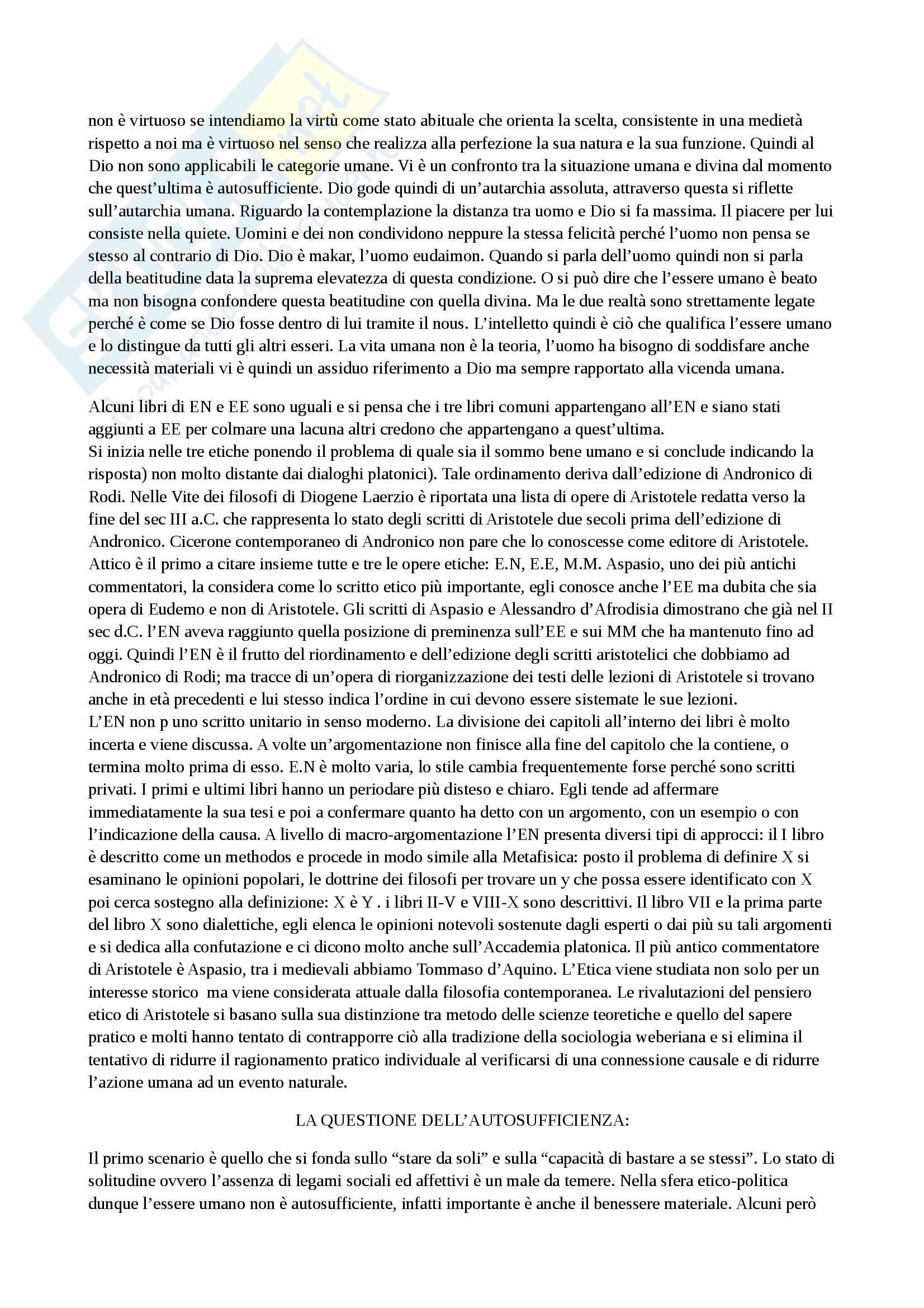 Riassunto esame storia della filosofia antica, con prof. Emidio Spinelli, libro consigliato Aristotele di Carlo Natali Pag. 31