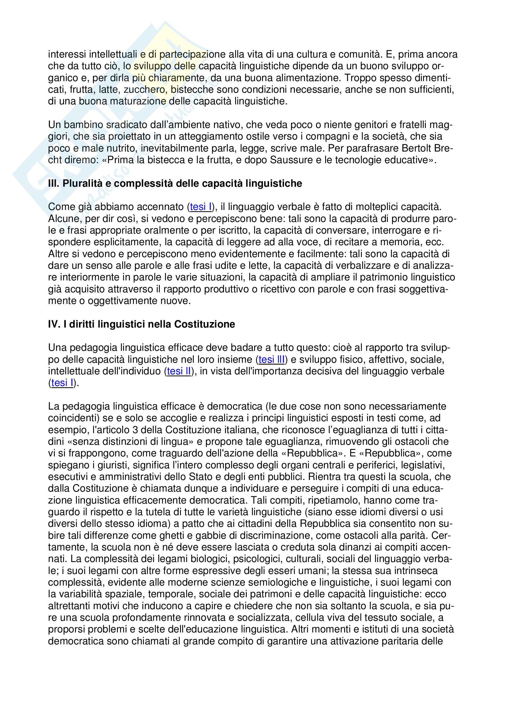 10 tesi per l'educazione linguistica democratica Pag. 2