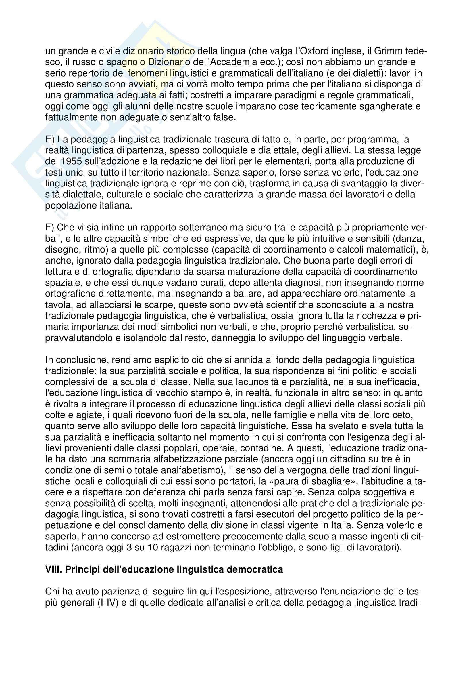 10 tesi per l'educazione linguistica democratica Pag. 6