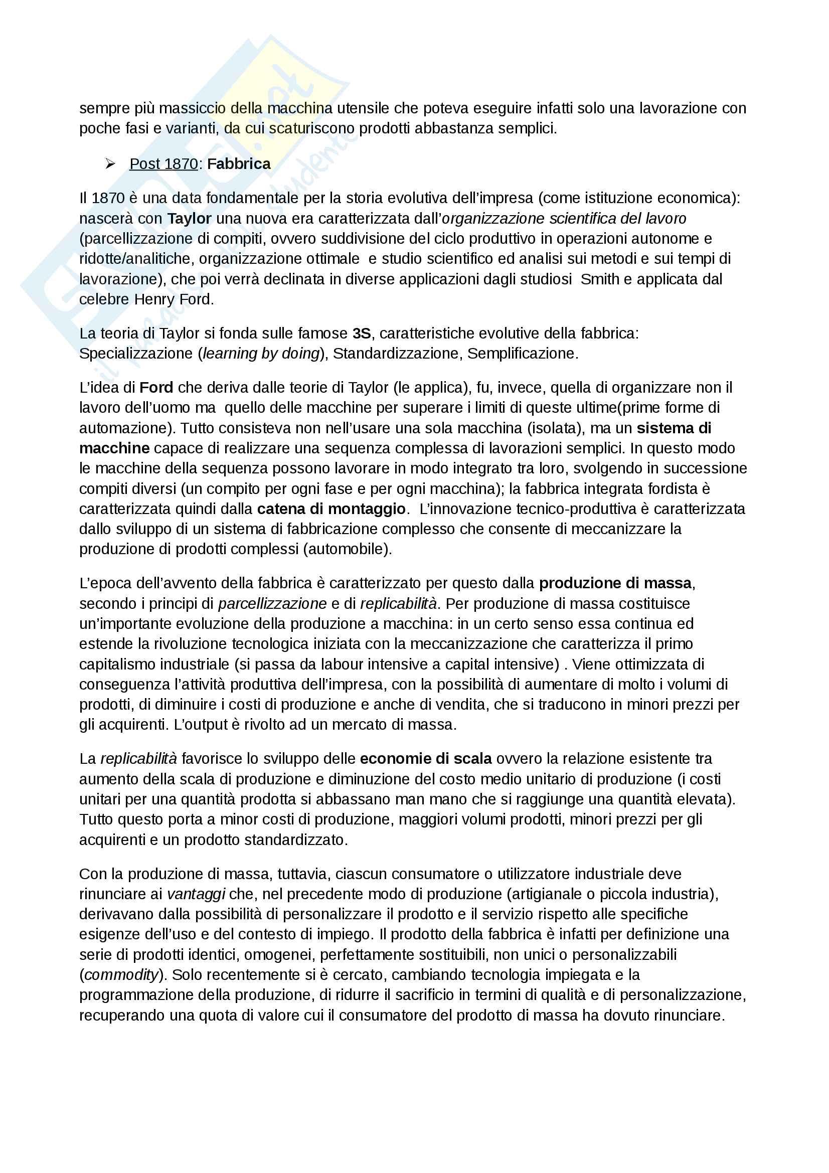 Management Primo parziale Economia prof Cuomo unimib Unisa Pag. 2