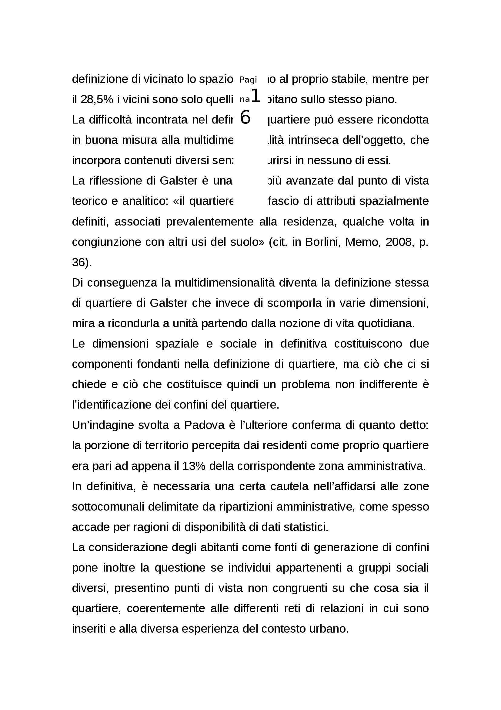 Tesi  - Nuove identità nei quartieri della città contemporanea Pag. 16