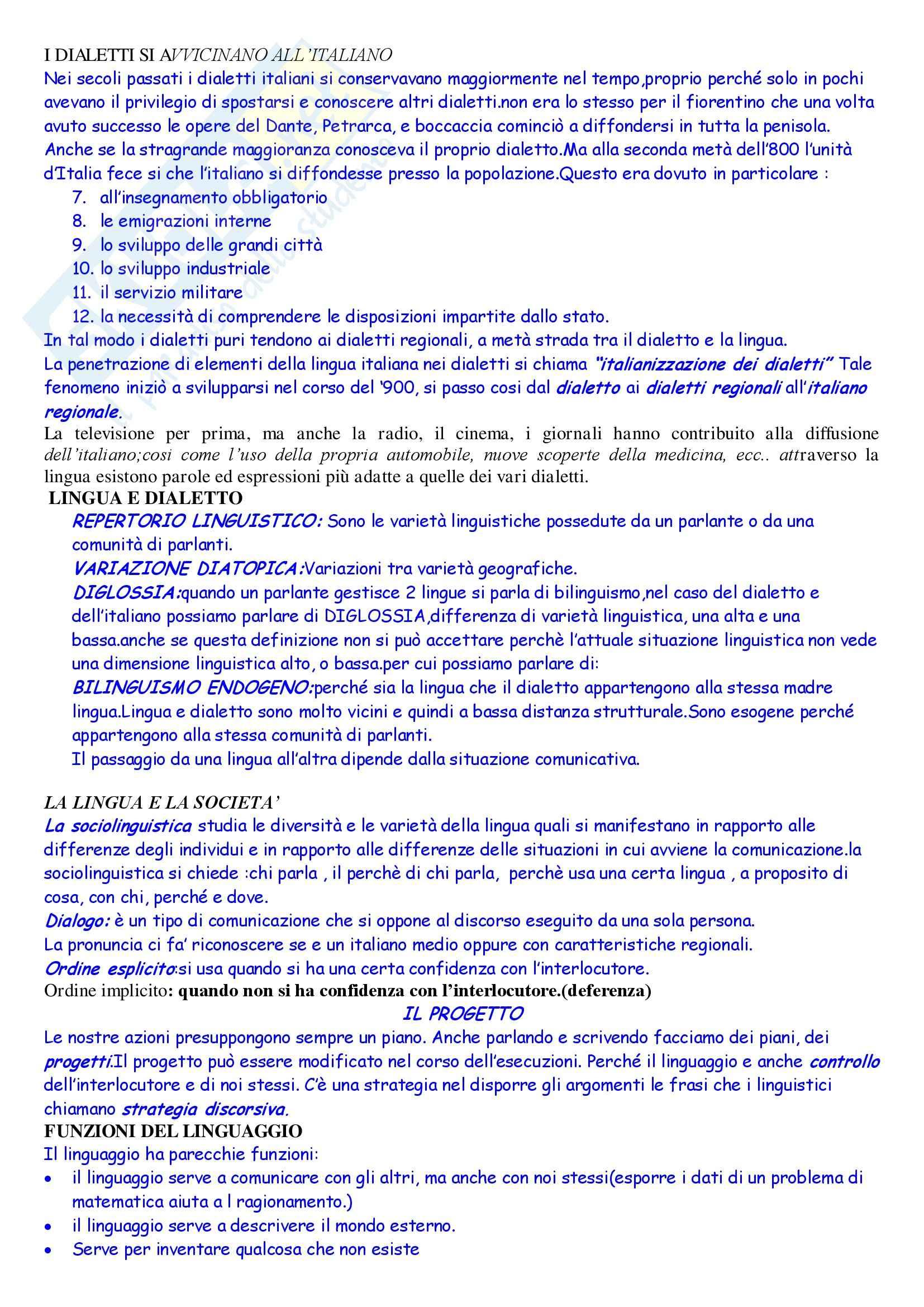 Linguistica italiana - nozioni generali Pag. 26