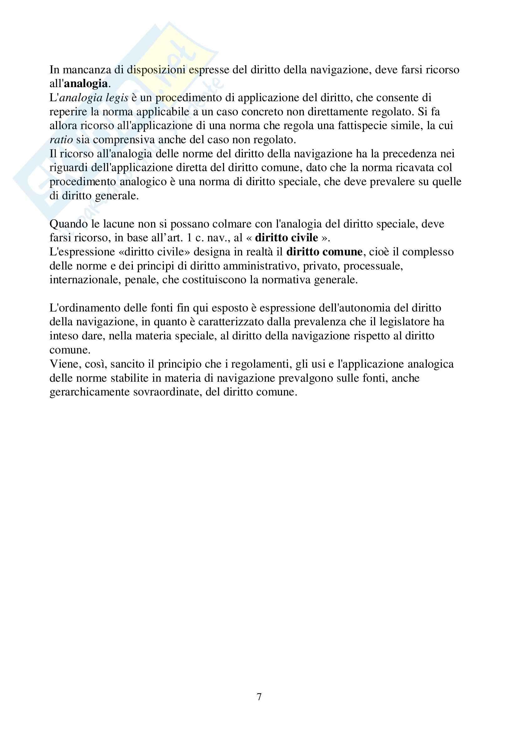 Riassunto esame Diritto alla Navigazione, prof. Carnimeo, libro consigliato Manuale di diritto alla navigazione, Pescatore, Tullio Pag. 6