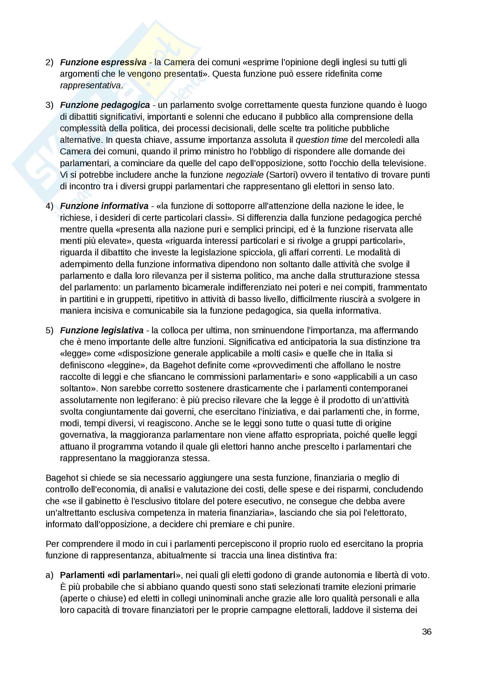 """Riassunto esame Scienza politica, docente Massari, libro consigliato: """"Nuovo corso di scienza politica"""", Pasquino Pag. 36"""