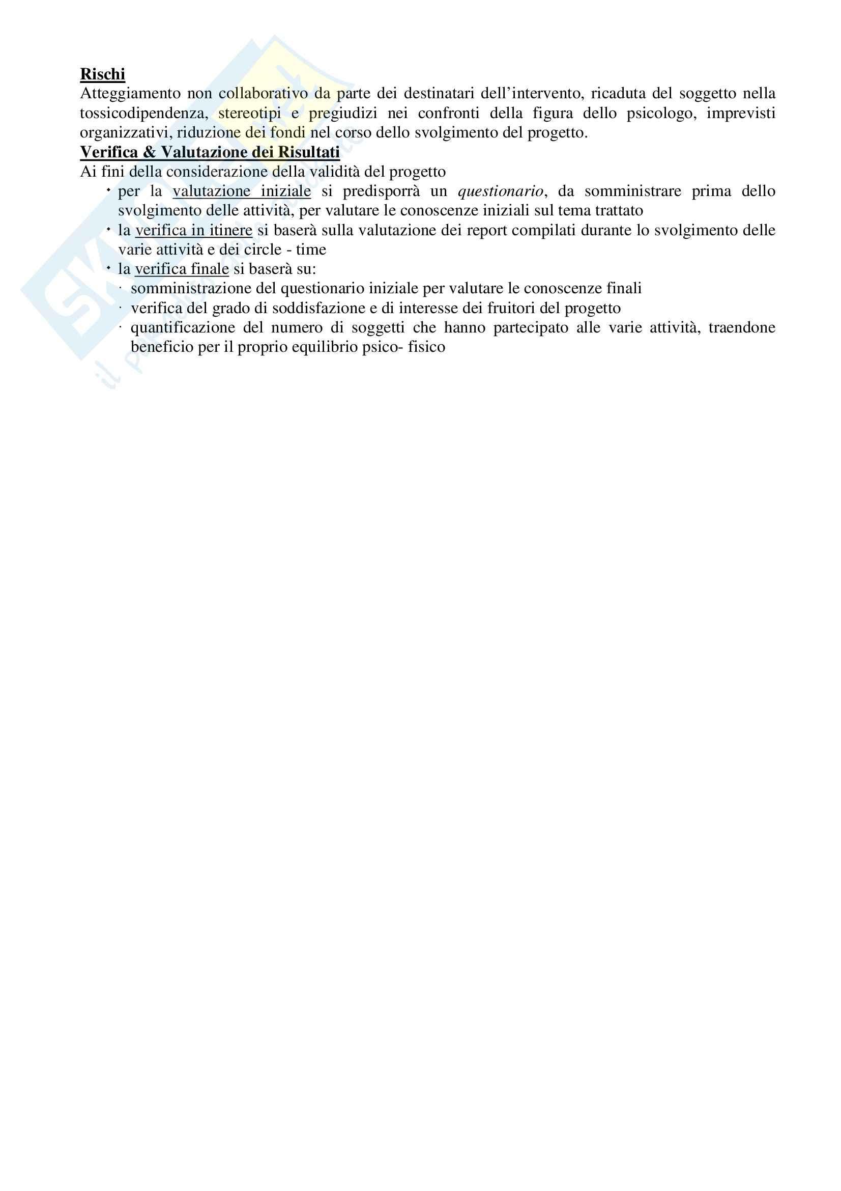 Progetti per esame di stato di Psicologia Pag. 36