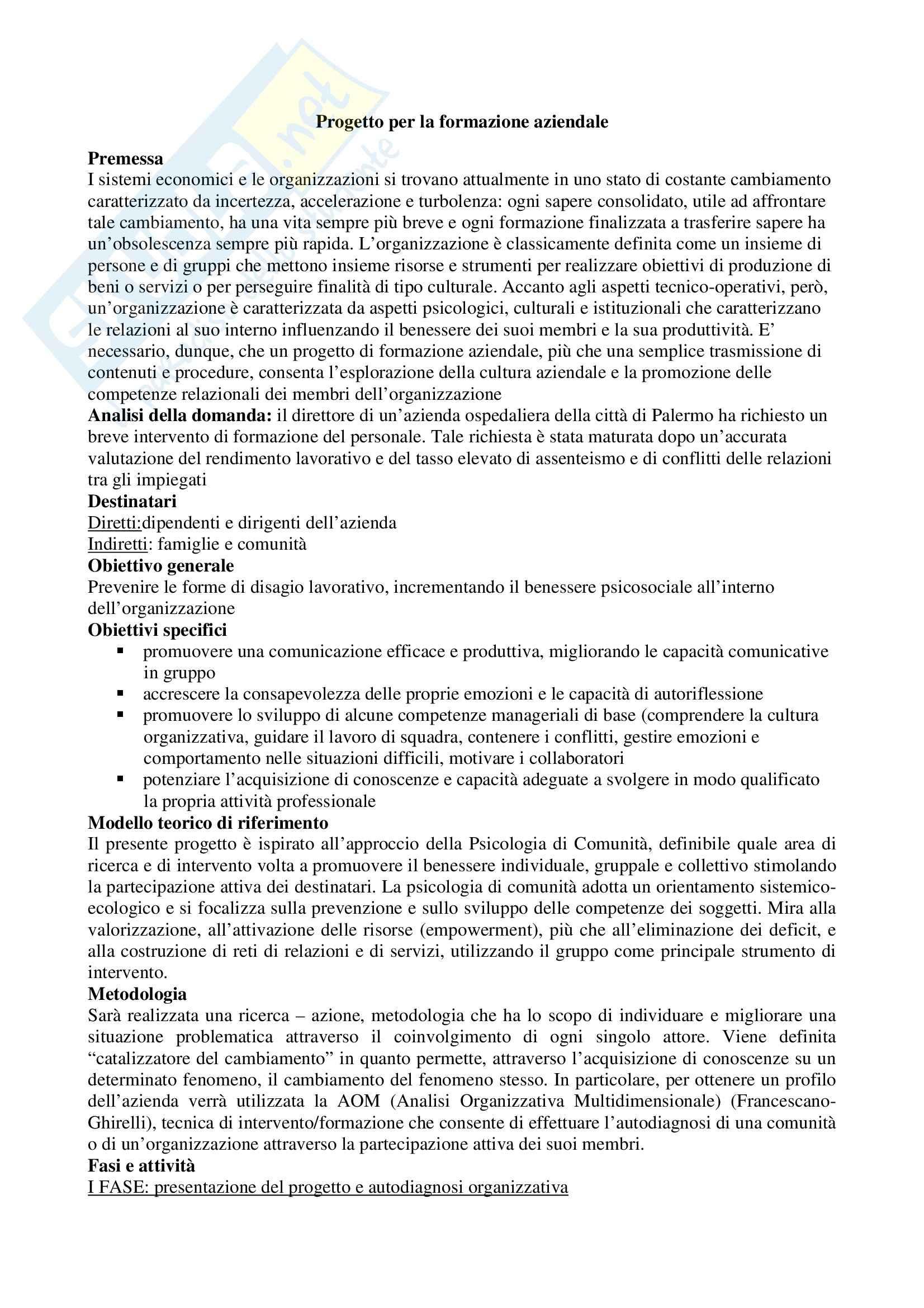 Progetti per esame di stato di Psicologia Pag. 51