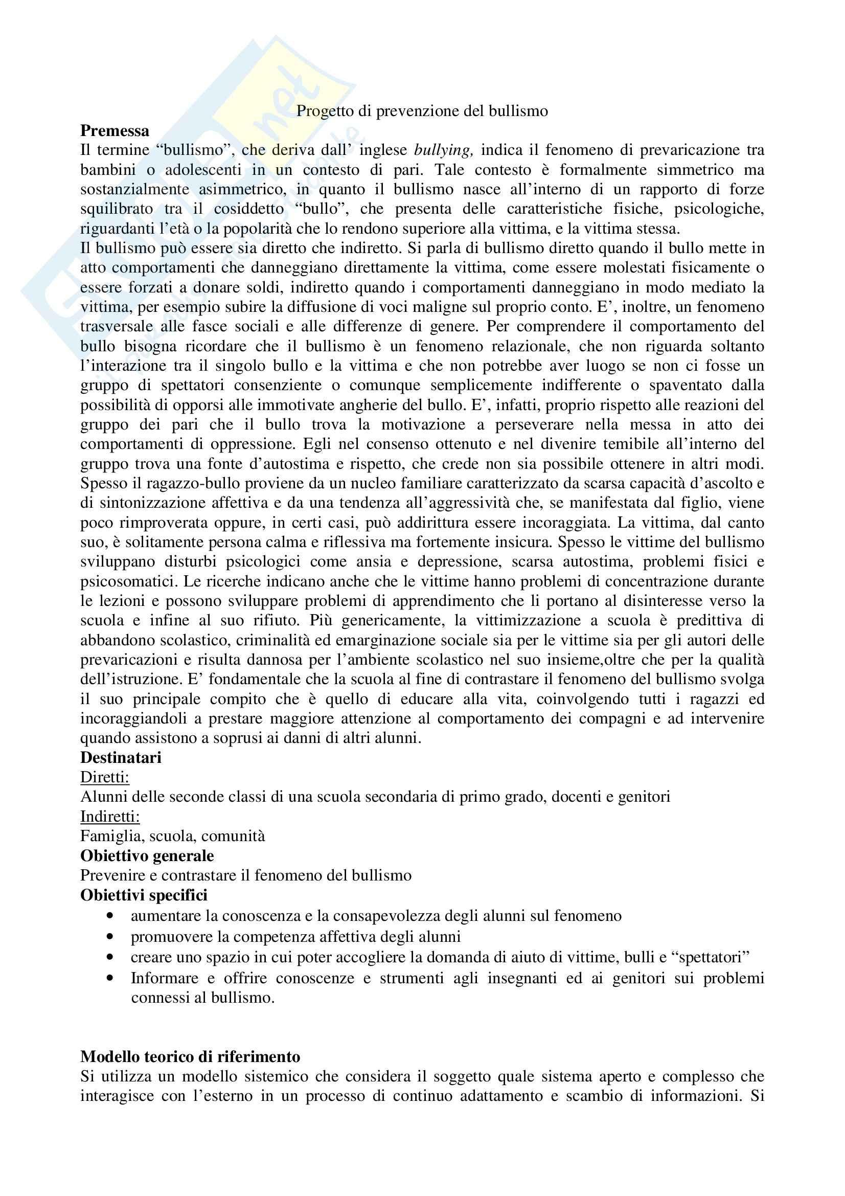 Progetti per esame di stato di Psicologia Pag. 6