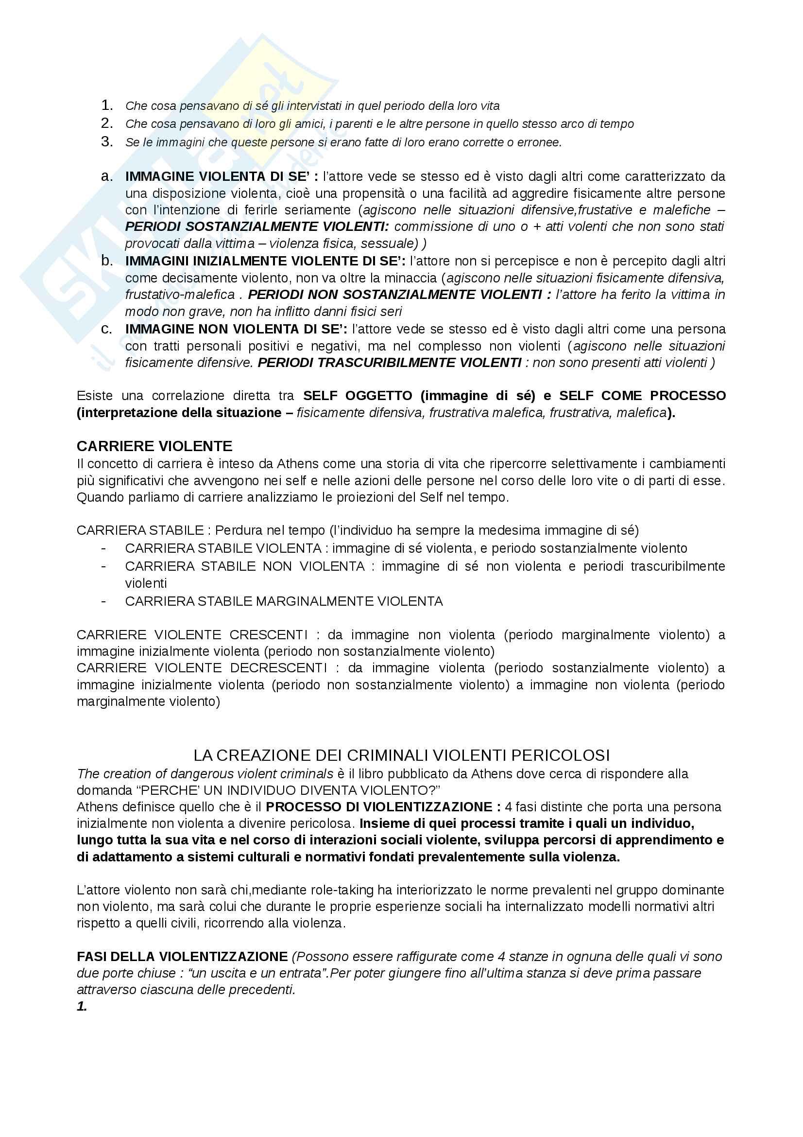 Riassunto esame Criminologia, docente, Cornelli libro consigliato Cosmologie violente, Adolfo Ceretti, Lorenzo Natali Pag. 11