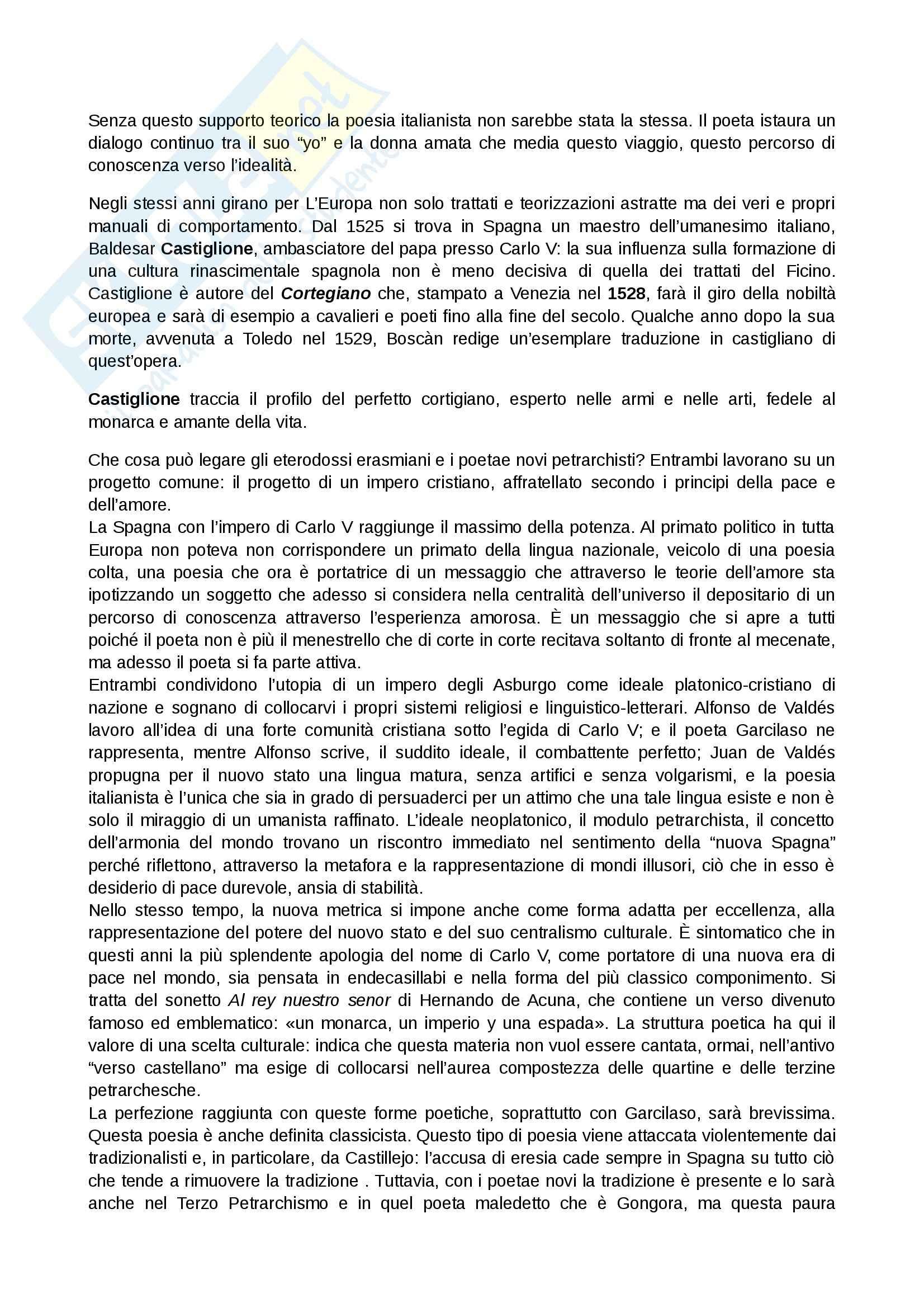 Letteratura spagnola - petrarchismo Pag. 2