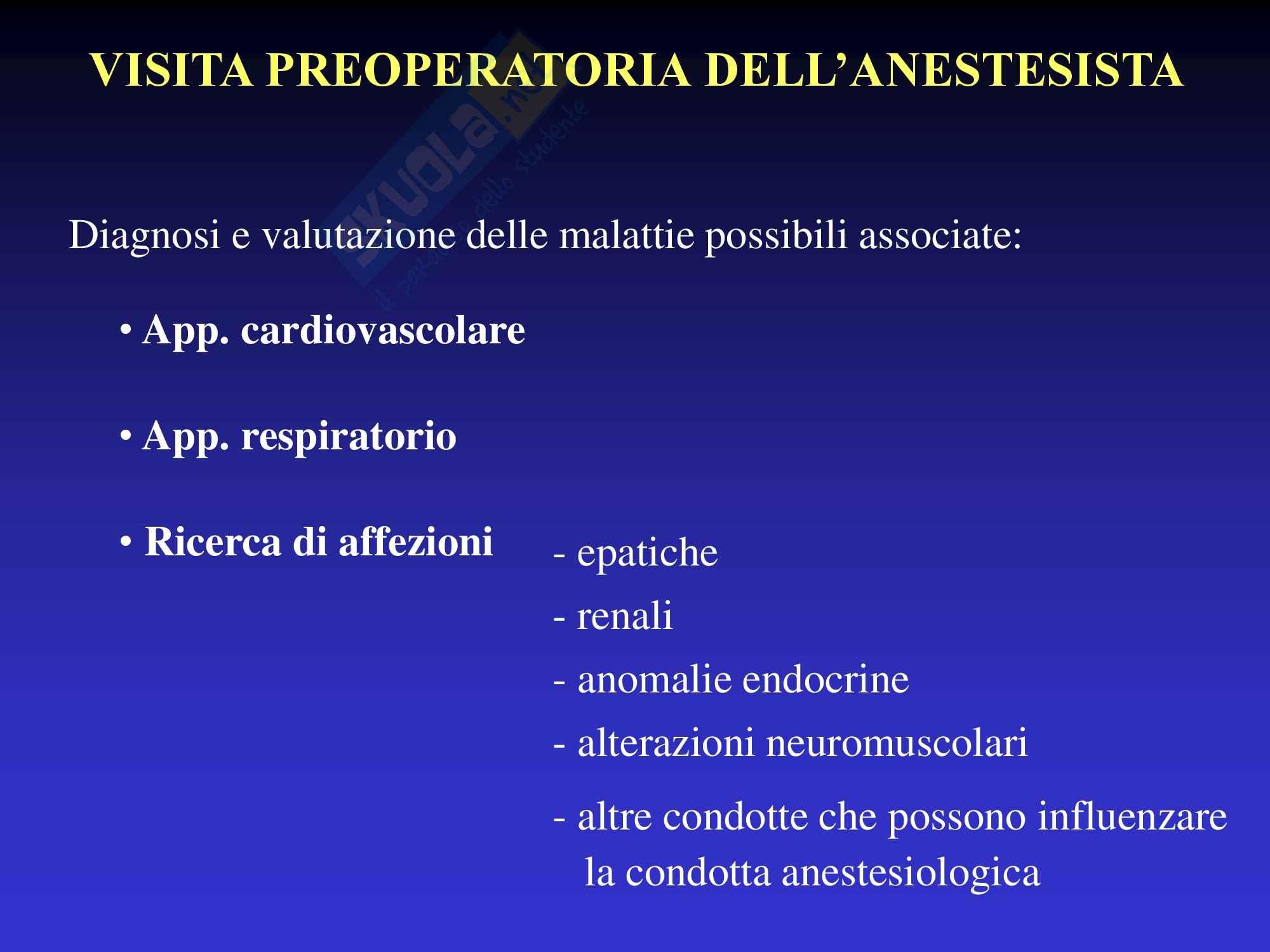 Anestesia - Appunti