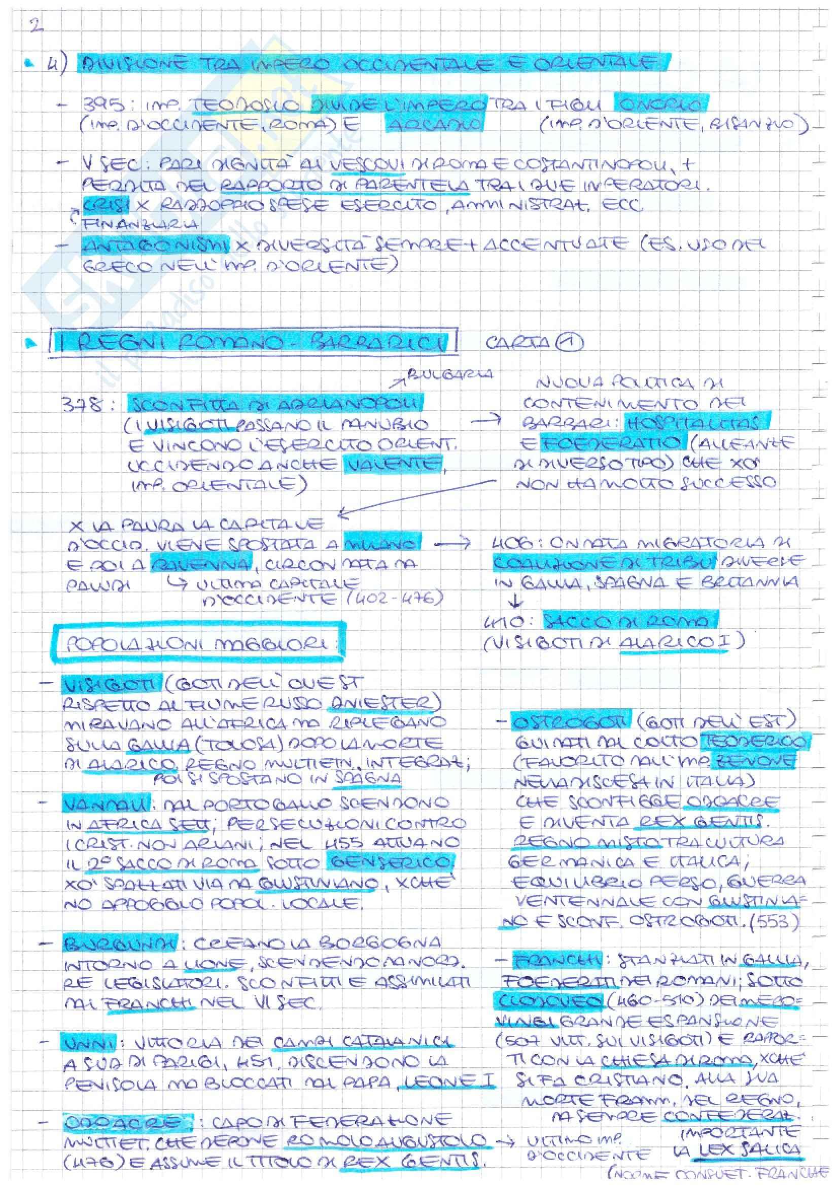Storia medievale - Schemi Pag. 2