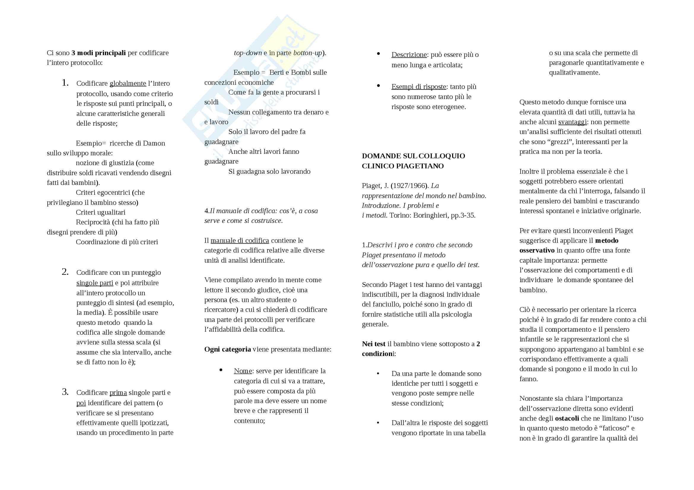 Domande d'esame Metodi di indagine in psicologia dello sviluppo Pag. 31