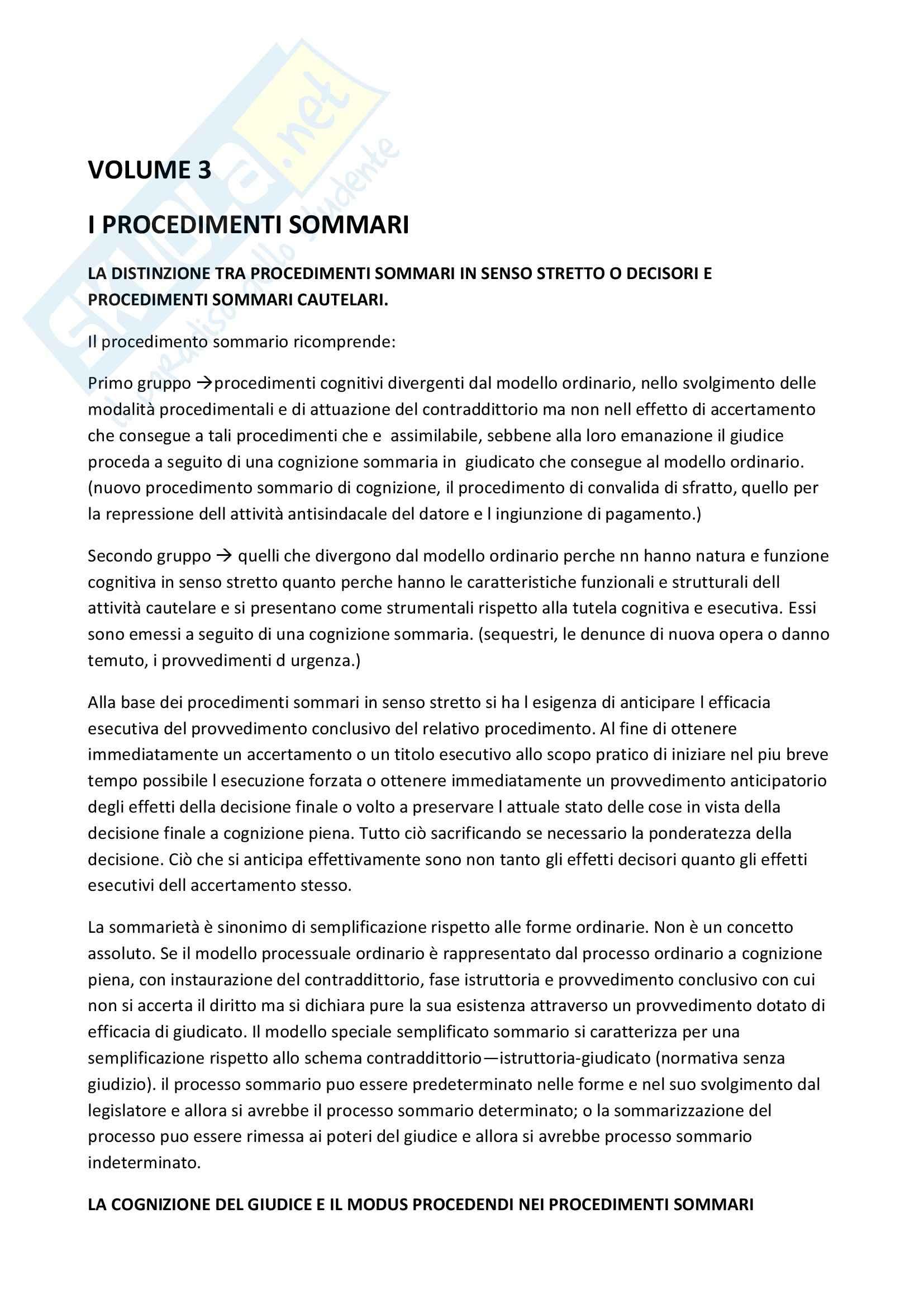 Riassunto esame procedura civile 2 prof. Ruffini, libro consigliato Diritto processuale civile, Punzi, volume 3
