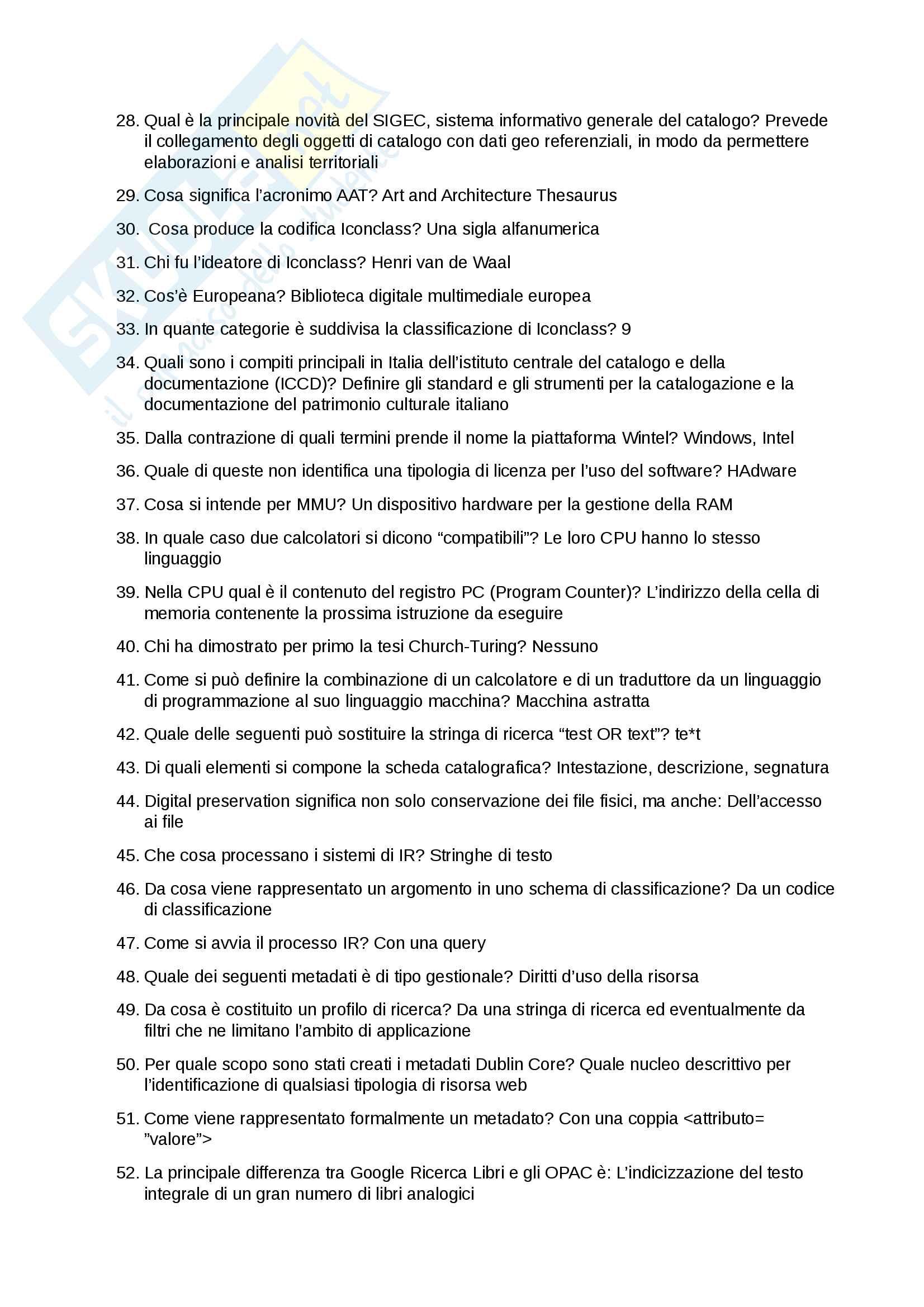 Appunti e Riassunto per l'esame Fondamenti di Informatica, prof. Cazzaniga Pag. 6