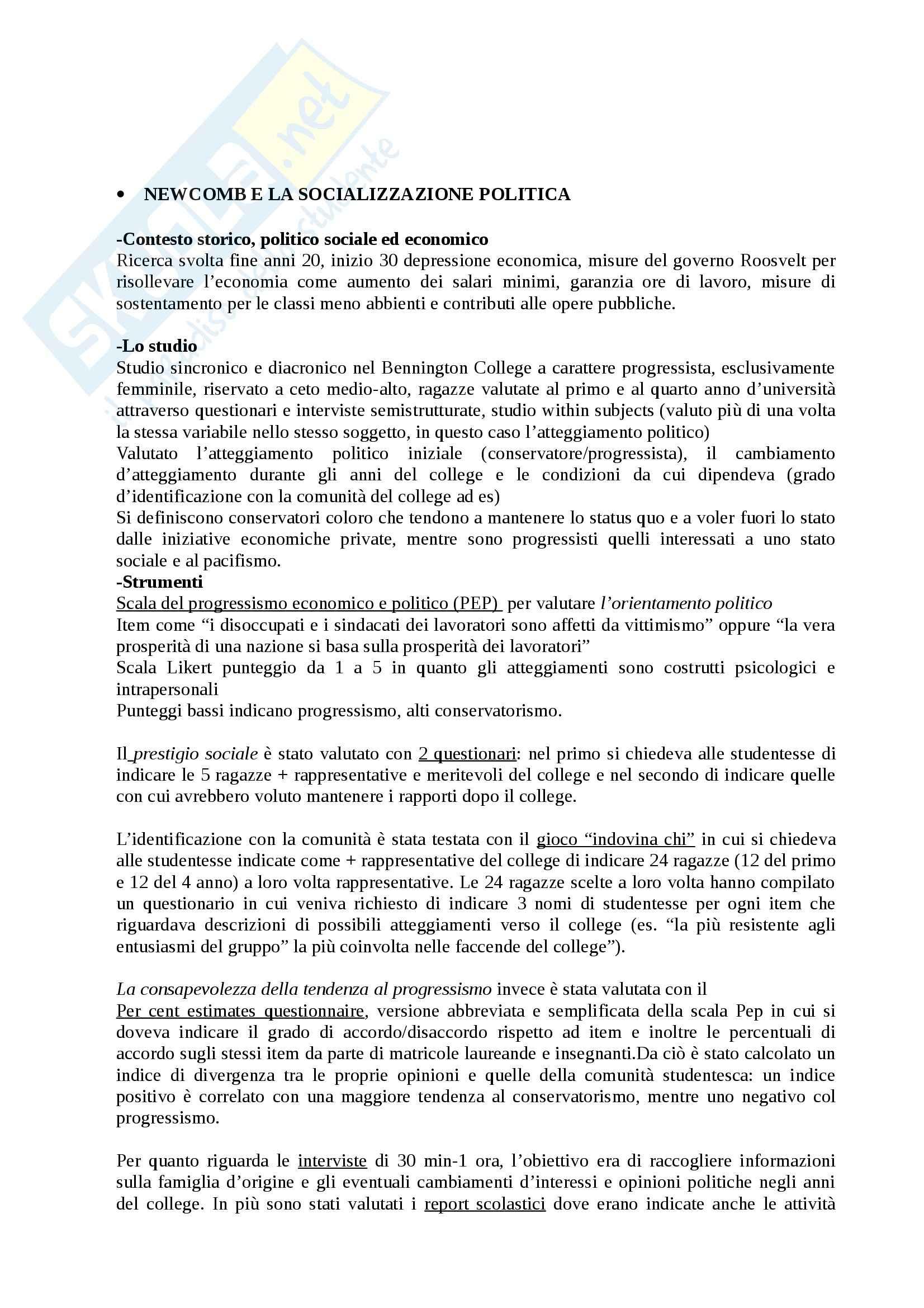 Riassunto esame Psicologia Sociale, prof. Rubini, libro consigliato Ricerche e Protagonisti della Psicologia Sociale, Palmonari