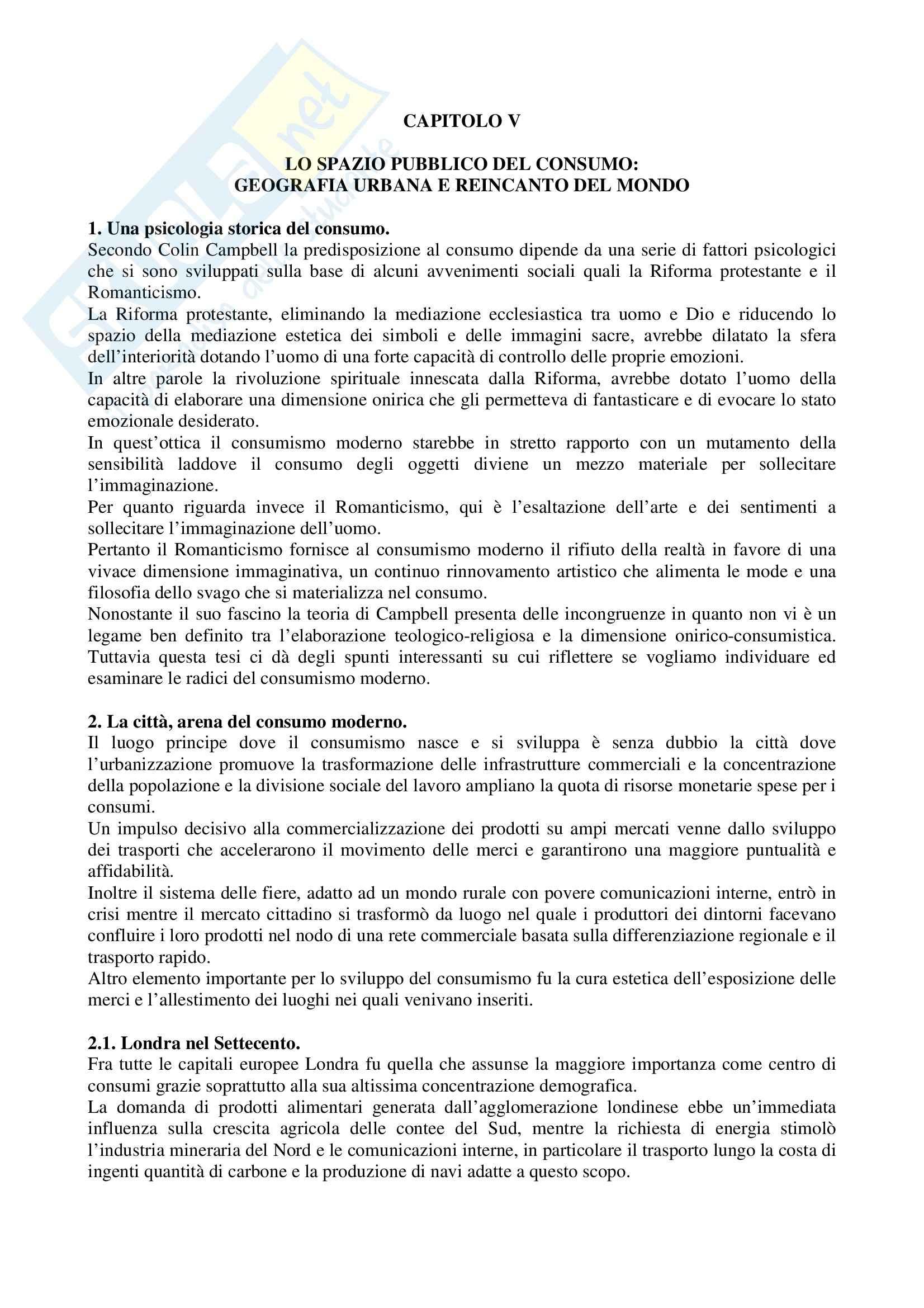 Riassunto esame Storia dell'Industria e dell'Impresa, prof. Rosolino, libro consigliato Culture del Consumo di Capuzzo Pag. 31