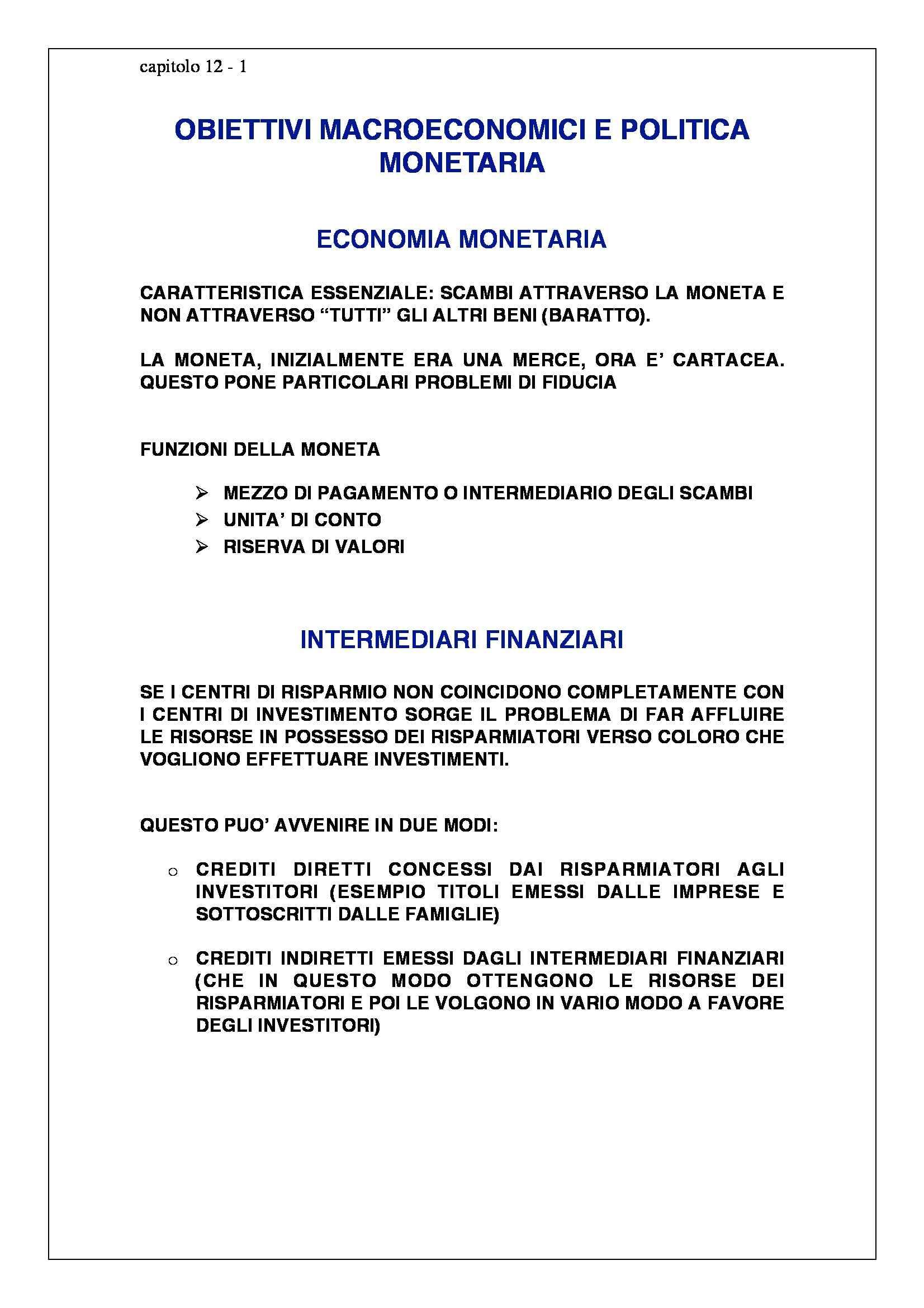 dispensa M. Franzini Politica Economica