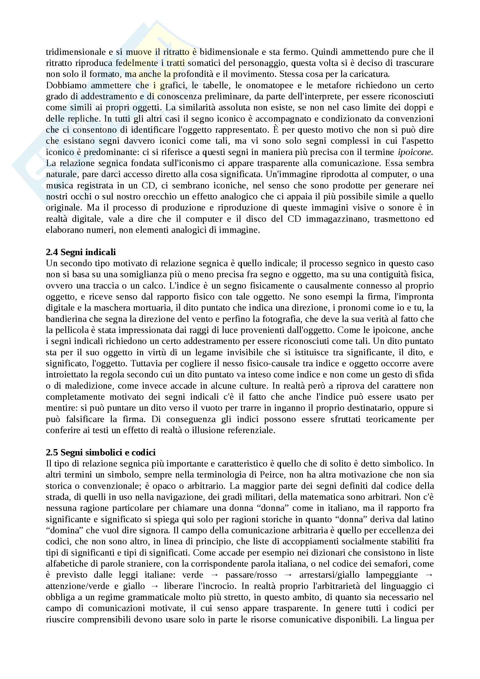 Riassunto Semiotica, prof Leone, libro consigliato Manuale di semiotica, Volli Pag. 6