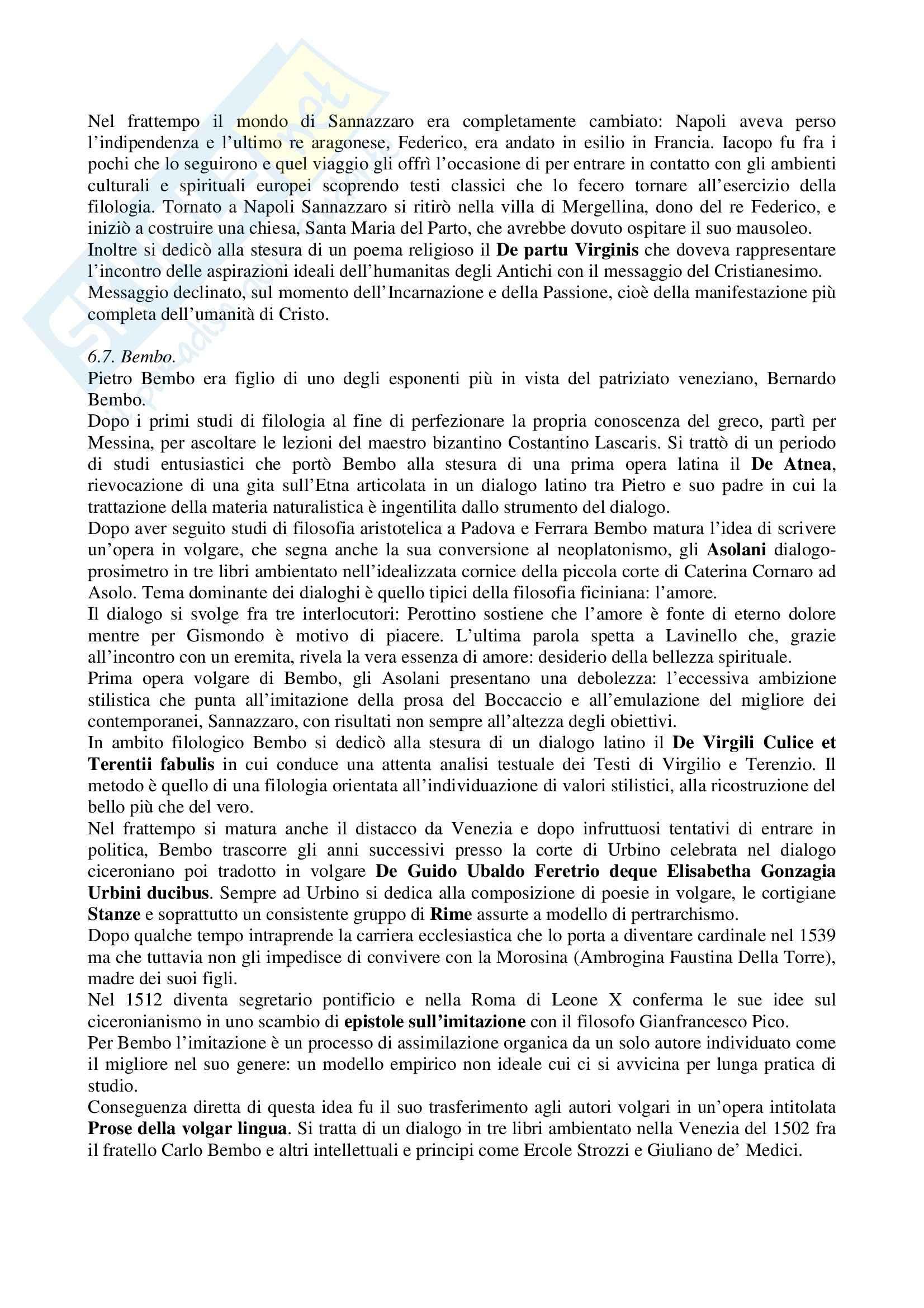 Riassunto esame Letteratura Italiana, prof. Vecce, libro consigliato Piccola Storia della Letteratura Italiana: Rinascimento Pag. 31