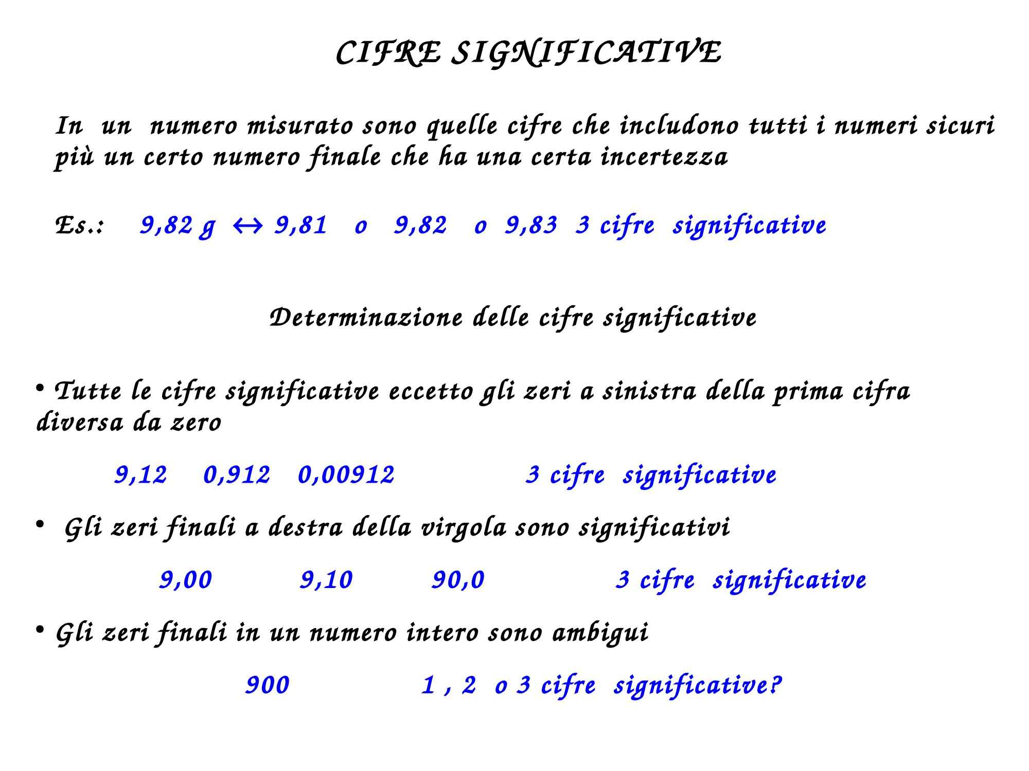 Cifre significative e notazione scientifica