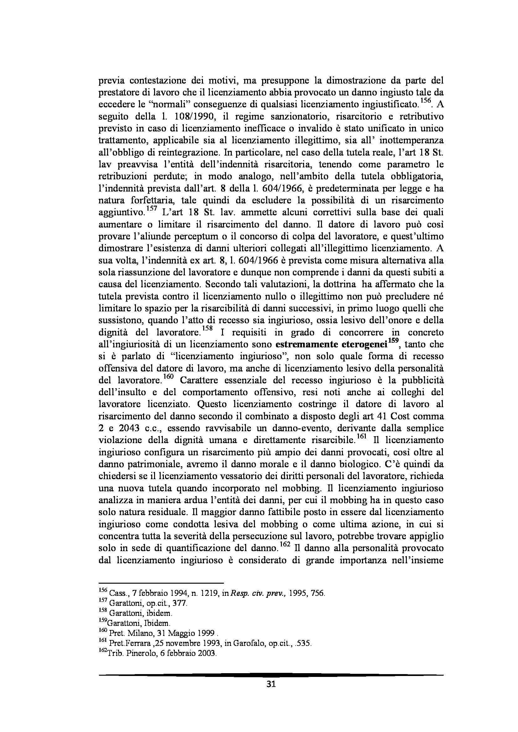 Tesi: Il Mobbing - Introduzione e capitoli Pag. 31