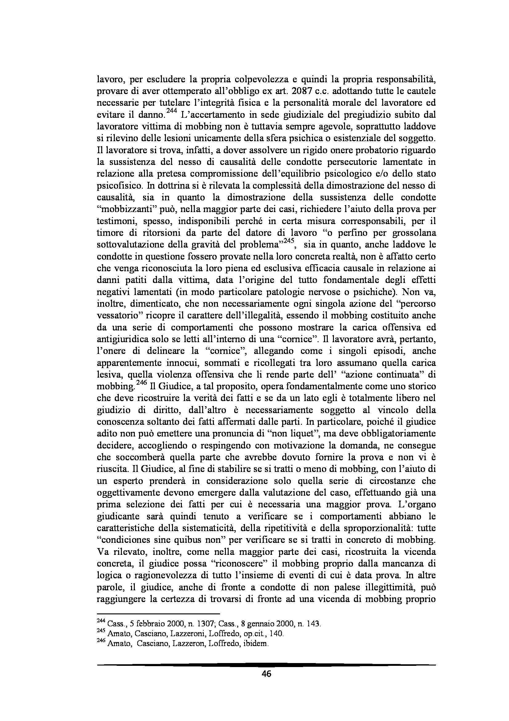 Tesi: Il Mobbing - Introduzione e capitoli Pag. 46