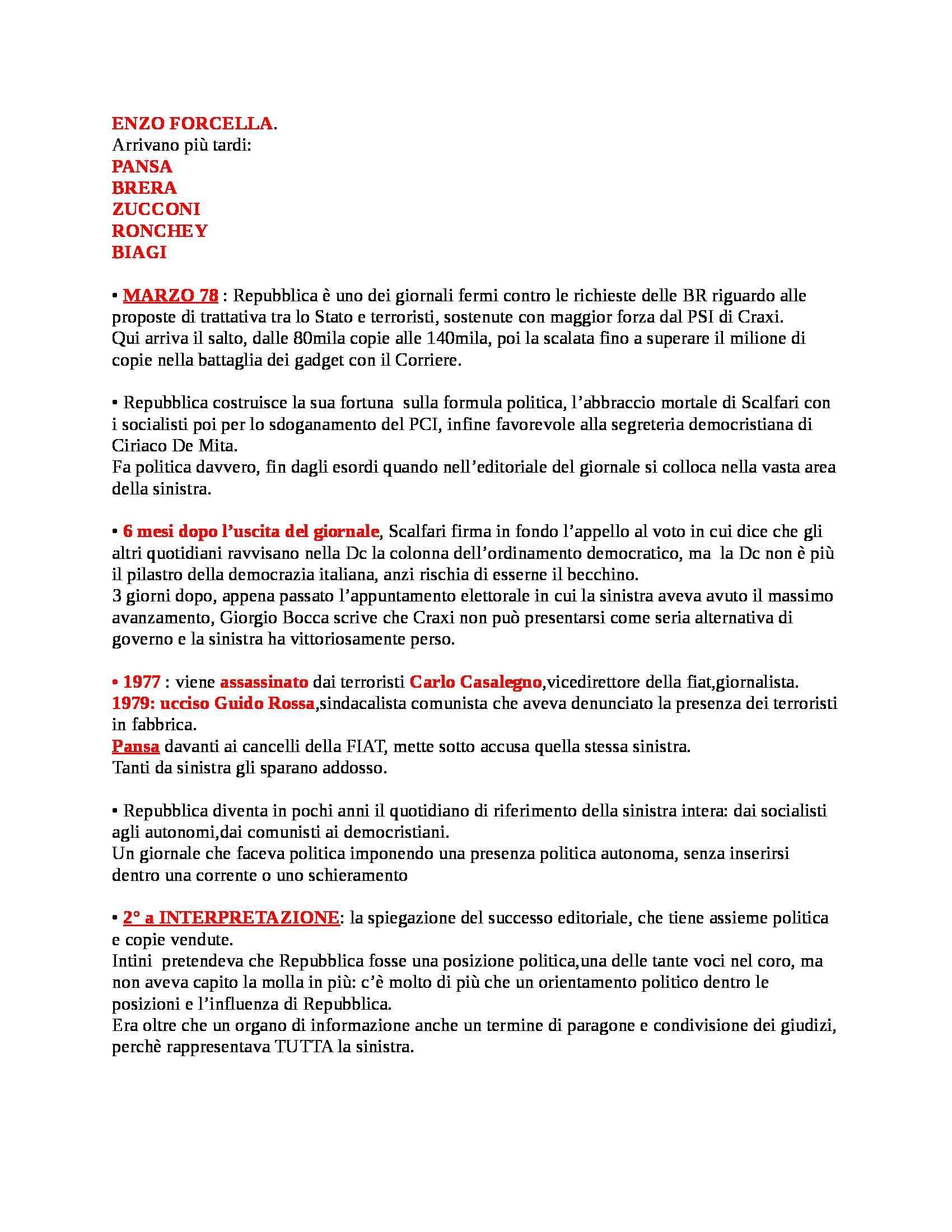 Riassunto esame Teorie e Tecniche del Linguaggio Giornalistico, prof. Agostini, libro consigliato Giornalismi, Media e Giornalisti in Italia Pag. 16