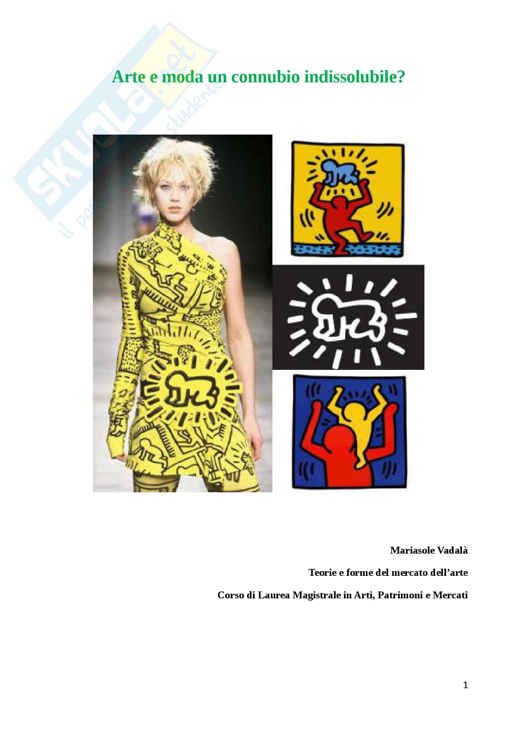 Tesina d'esame: Arte e moda un connubio indissolubile?