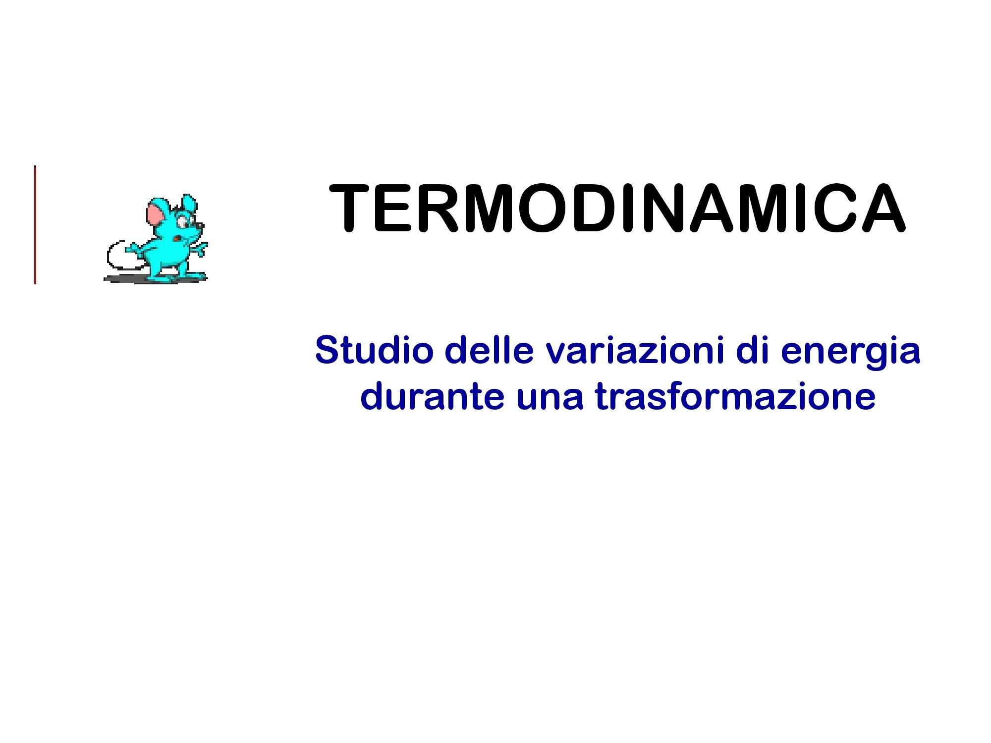 Termodinamica - Principi e sistemi