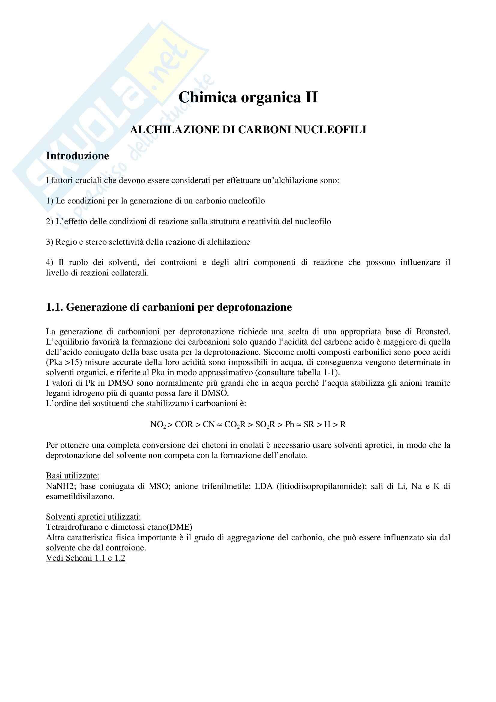 Chimica organica II - Appunti