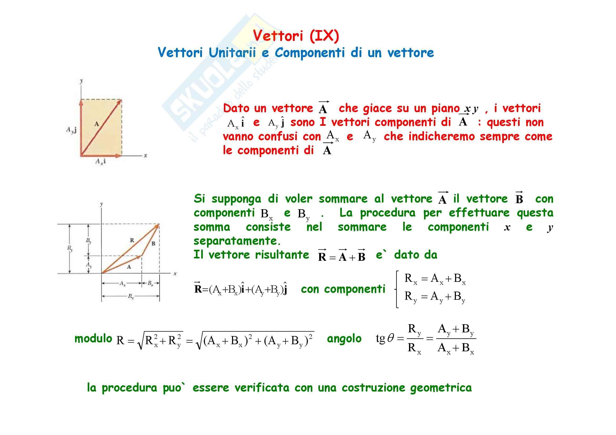 Fisica generale - metodo Sperimentale e Vettori Pag. 41