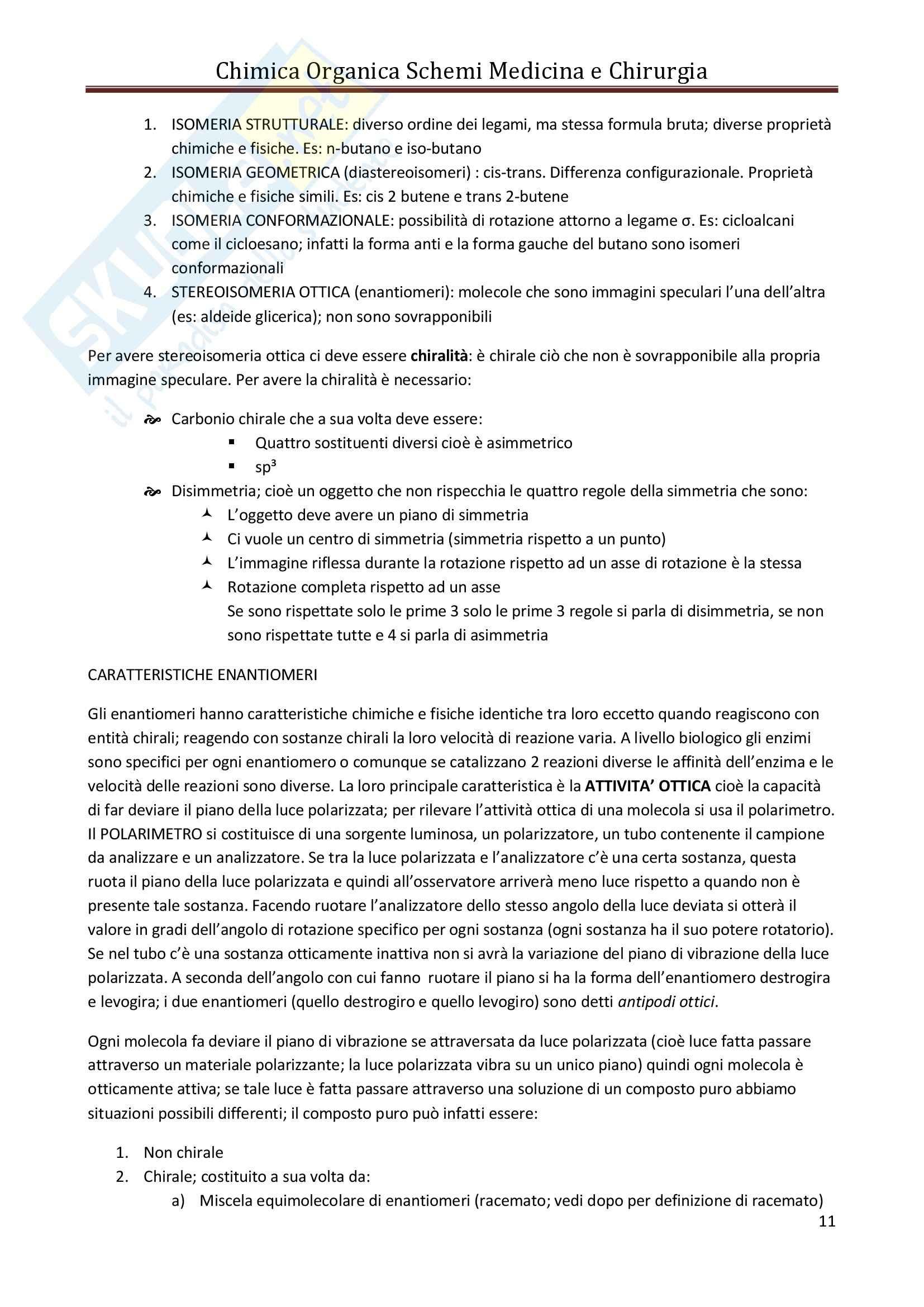 Riassunto esame Chimica, prof. Bianchini, libro consigliato Chimica Organica e Propedeutica a Biochimica Pag. 11