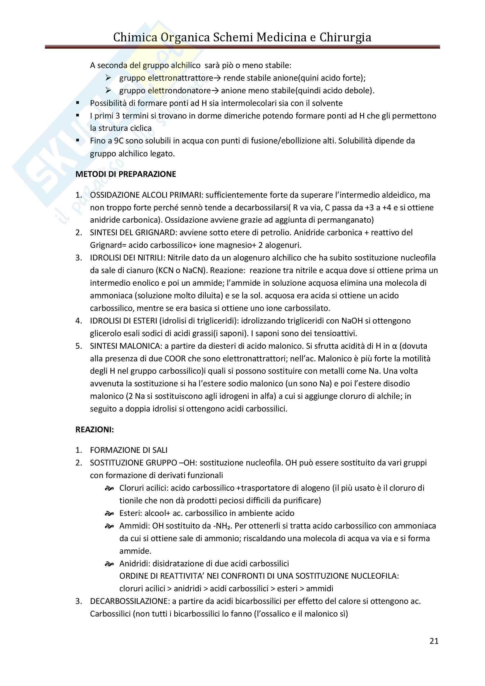 Riassunto esame Chimica, prof. Bianchini, libro consigliato Chimica Organica e Propedeutica a Biochimica Pag. 21